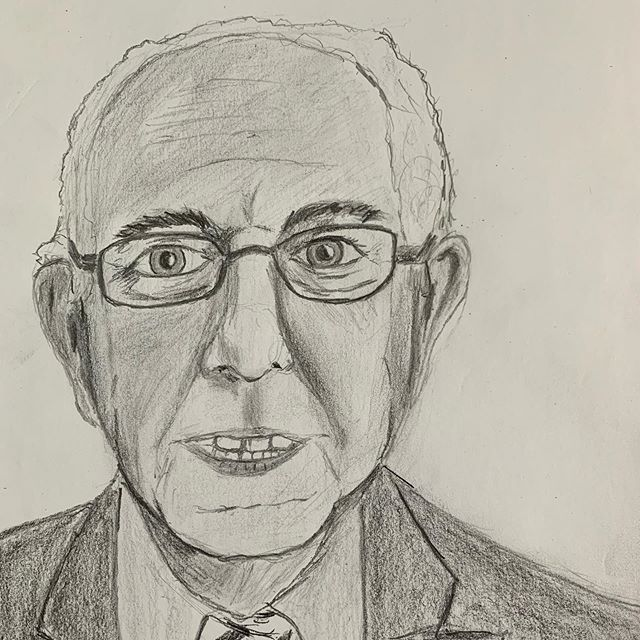 Today's sketch of the day is @berniesanders in case you cannot tell. #berniesanders2020