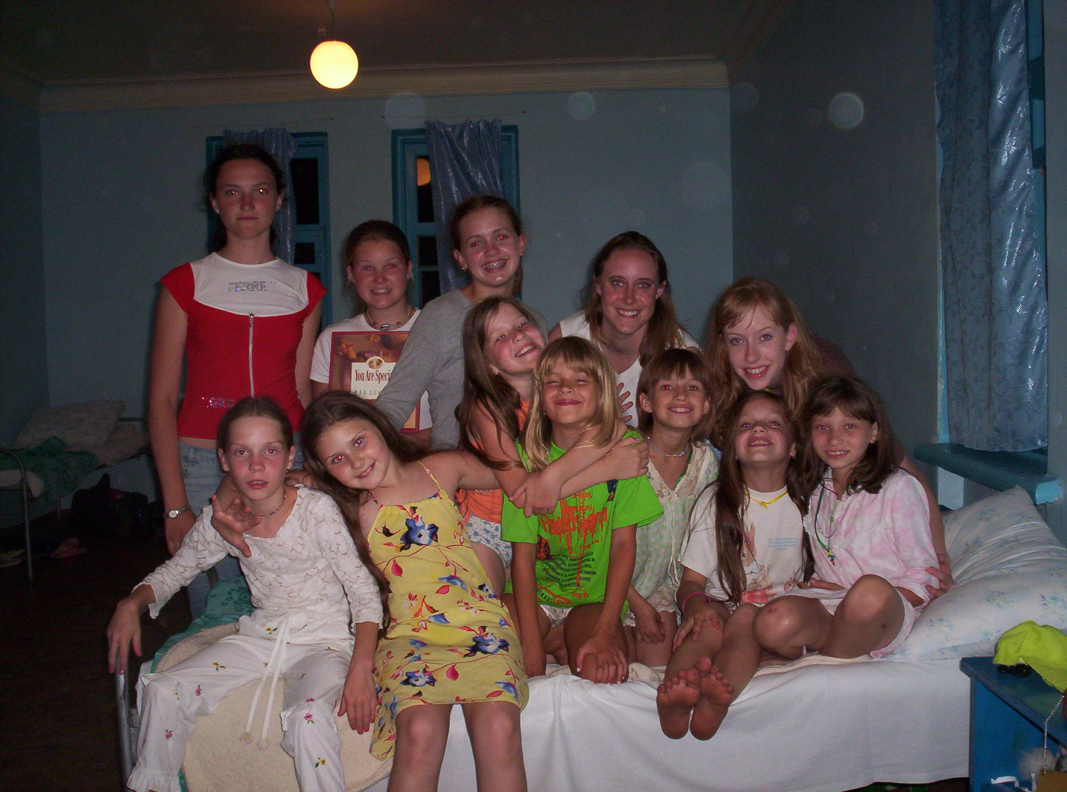 Melody with Ward 4 girls in Ukraine on a short term mission trip.
