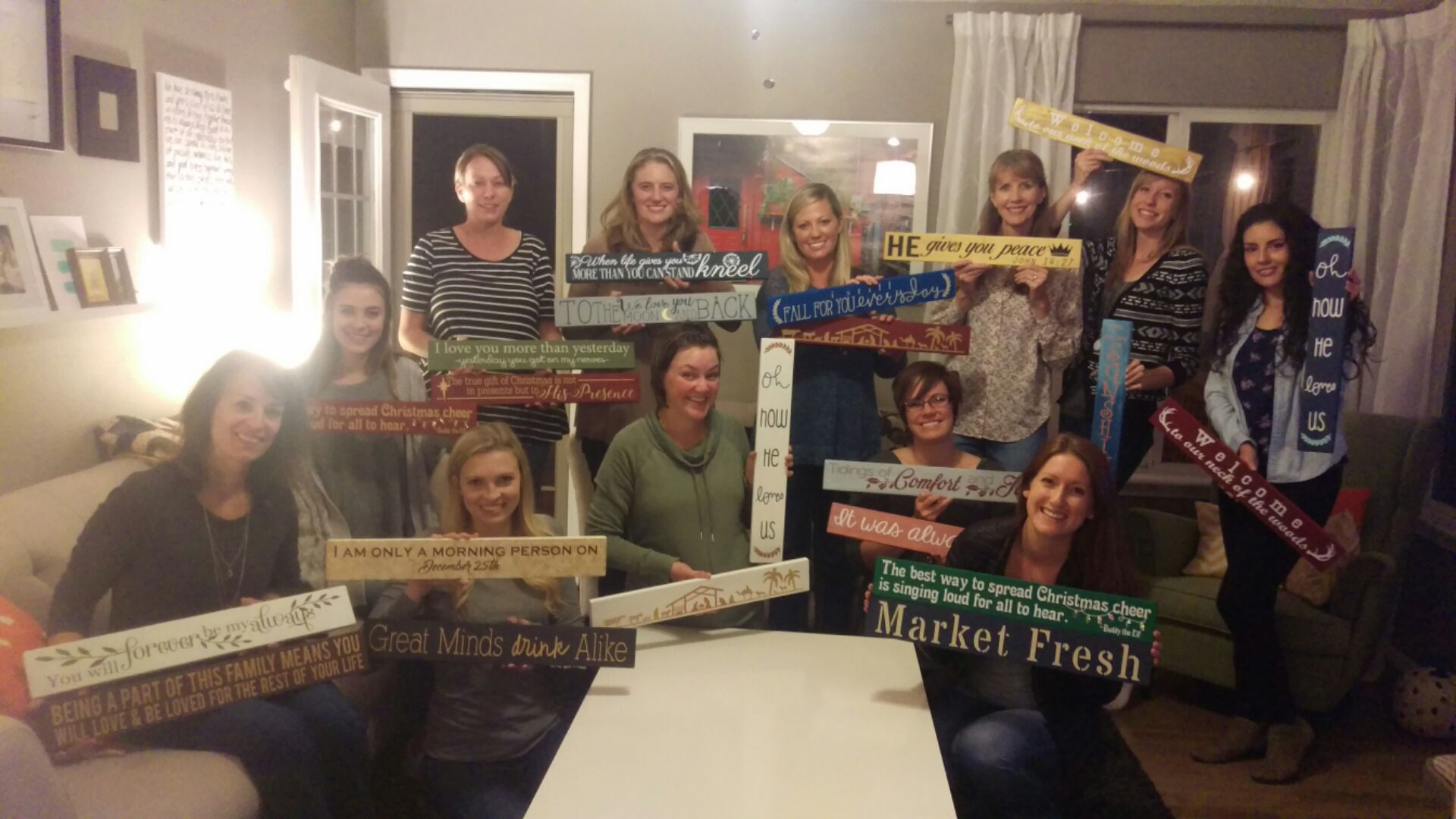 Sign Painting Fundraiser evening