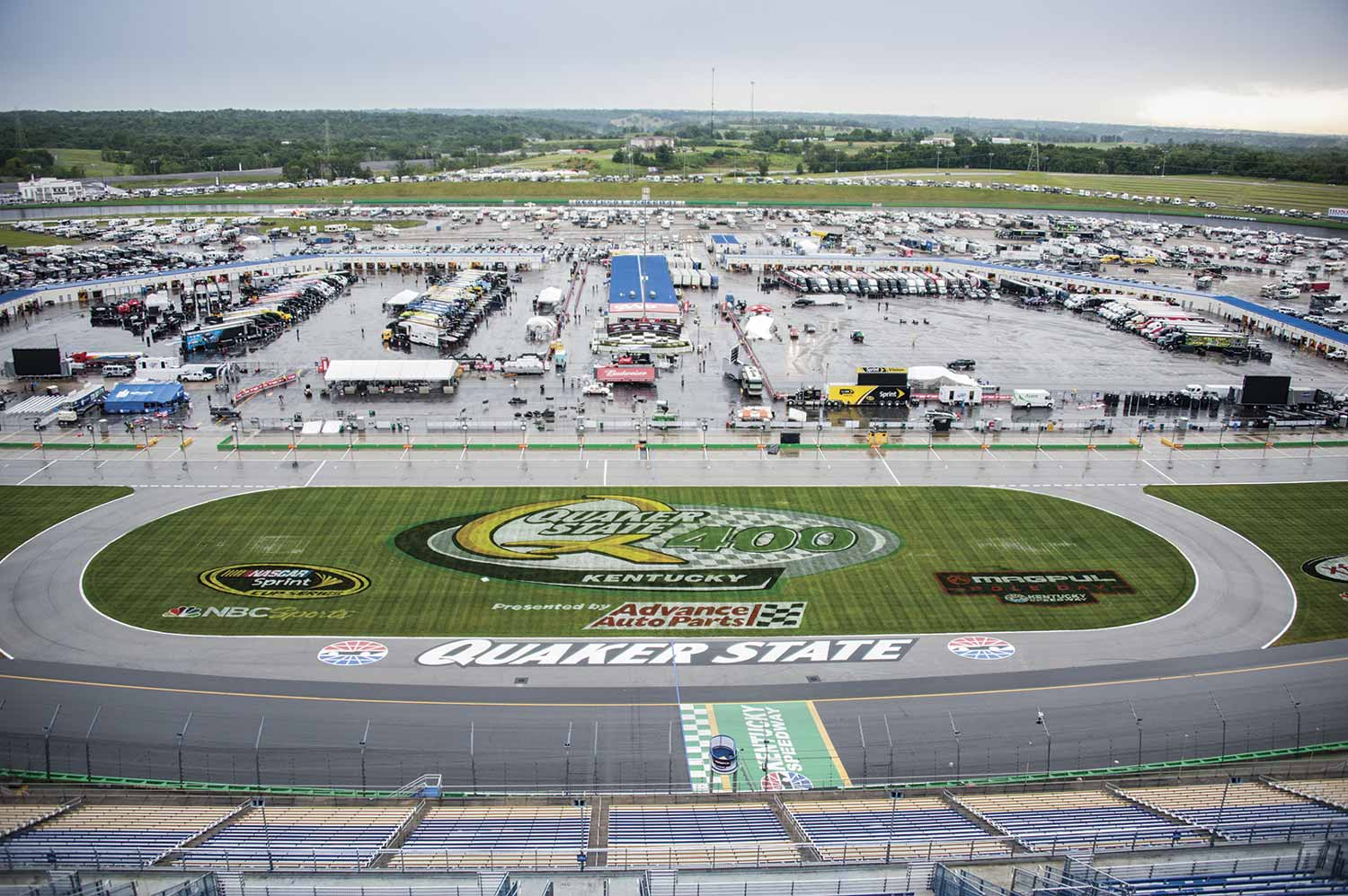 The large Kentucky Speedway venue hosts not only NASCAR and Indy races, but numerous smaller events throughout the year that keep the sheriff's office personnel busy. (Photo by Jim Robertson)