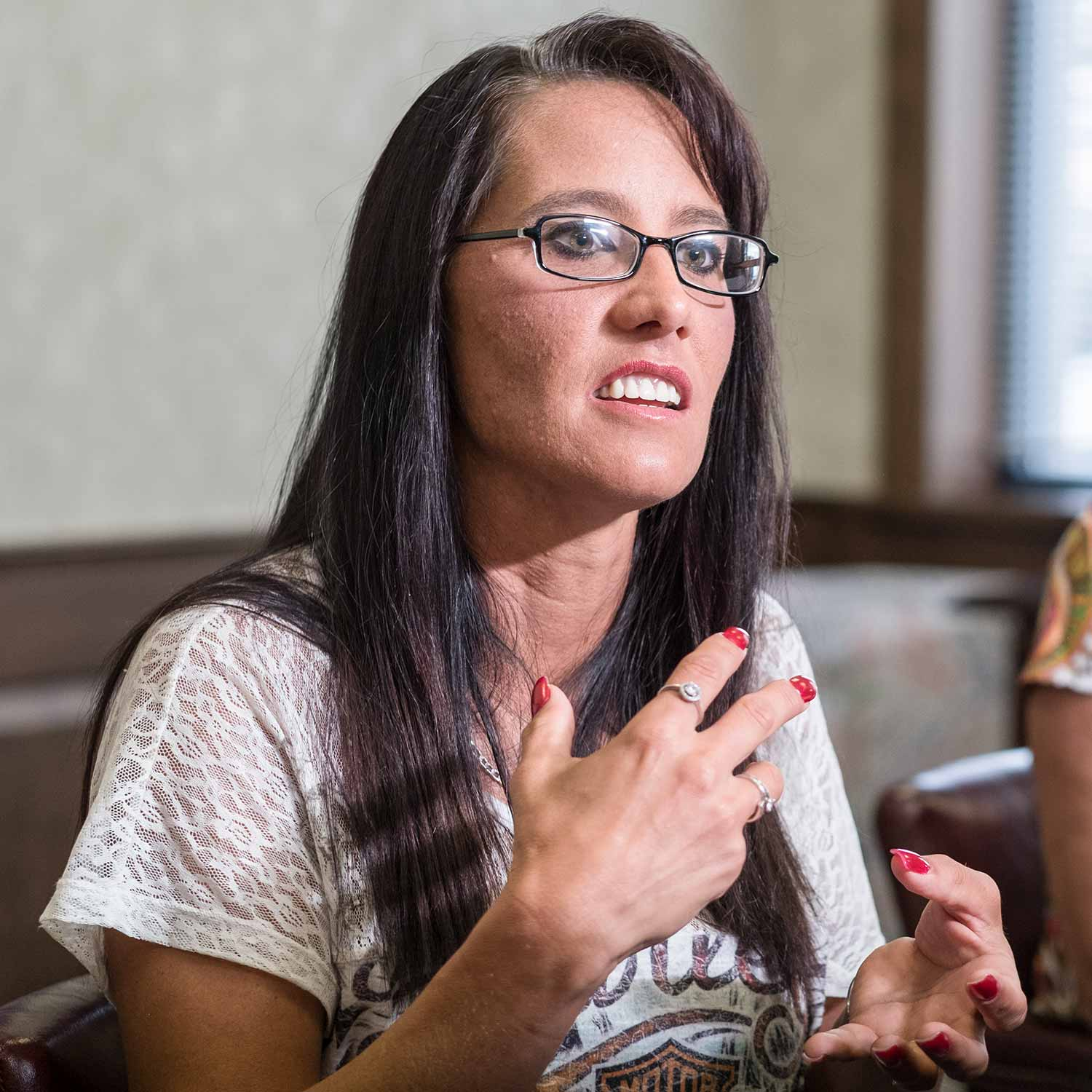 Homeless, jobless and helpless, Kasey reached out to the Jeffersontown Police Department for help and hope in battling her meth addiction. She found both through the department's Angel Initiative, which allows addicts to walk into the agency and receive assistance for immediate treatment. (Photo by Jim Robertson)