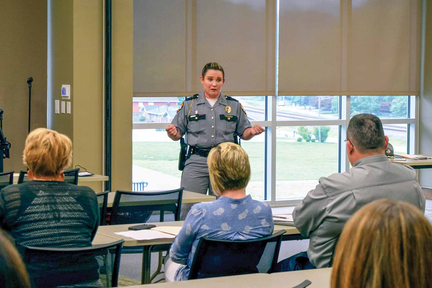 Pikeville Post Commander Jennifer Sandlin has taken the lead on the Kentucky State Police Angel Initiative. From presenting to community groups about the program, to training Angel volunteers, to preparing the men and women under her command, Sandlin is excited to see how the initiative unfolds in her post area. (Photo provided)
