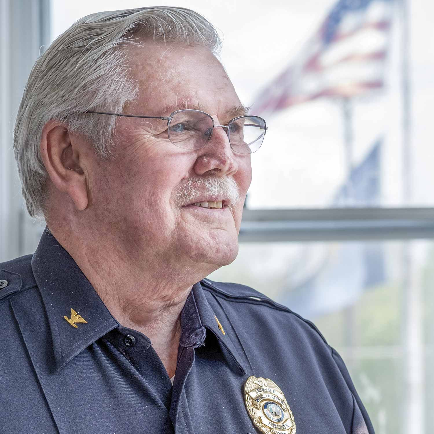 Wilmore Police Chief Bill Craig enjoys when officers in his Jessamine County agency take personal initiative and begin pursuing Career Development Program certifications. (Photo by Jim Robertson)