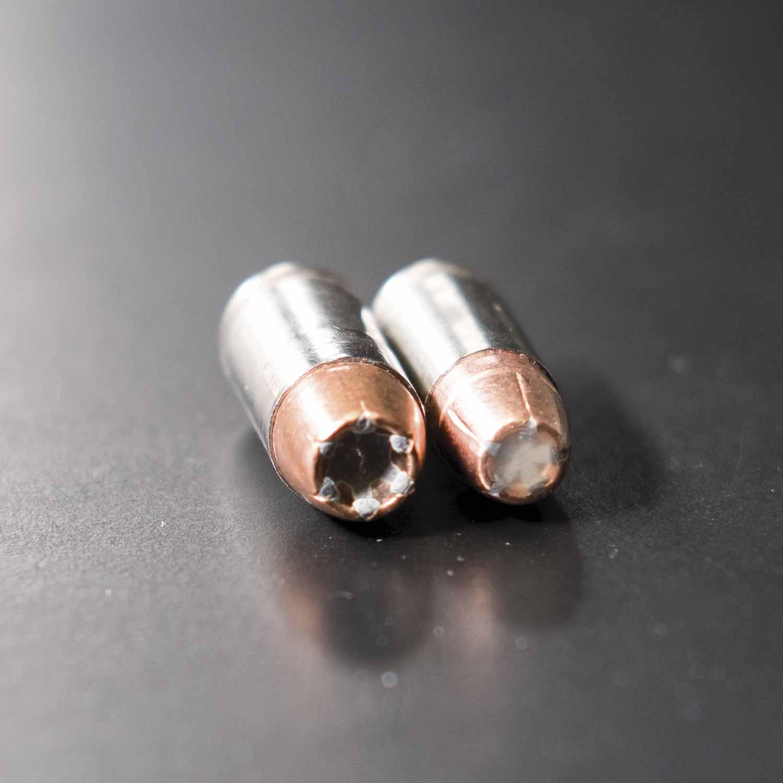 .40-caliber bullet shown on the left.