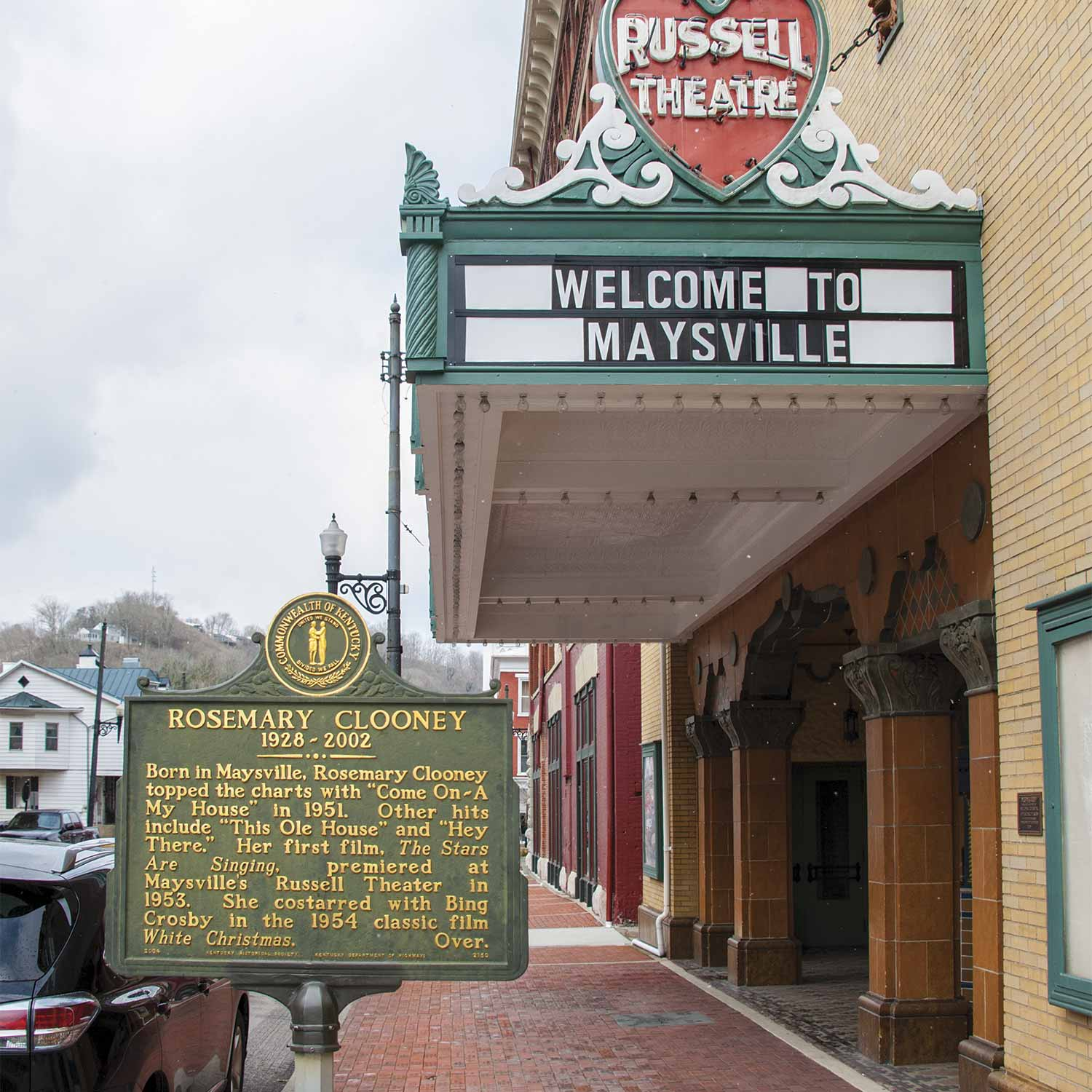 "Maysville is famous for being the birthplace of actress/singer Rosemary Clooney. The Russell Theater in Maysville held the world premiere of Clooney's movie, ""The Stars Were Singing"" in 1953. (Photo by Jim Robertson)"