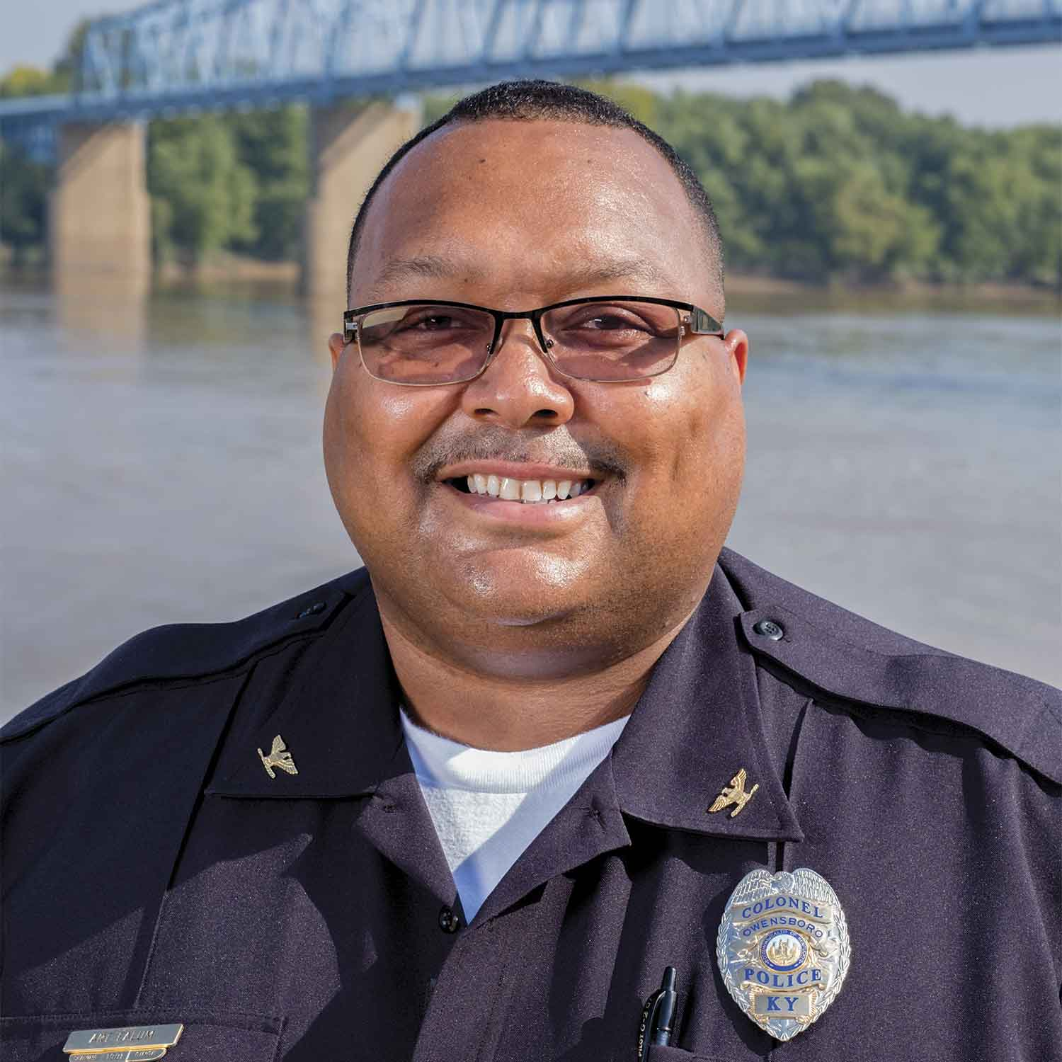 Art Ealum began his career with Owensboro as a police officer in 1991. He became chief in 2011. His rise to leadership was supported by great officers and leaders who believed in him and encouraged him often, he said. (Photo by Jim Robertson)
