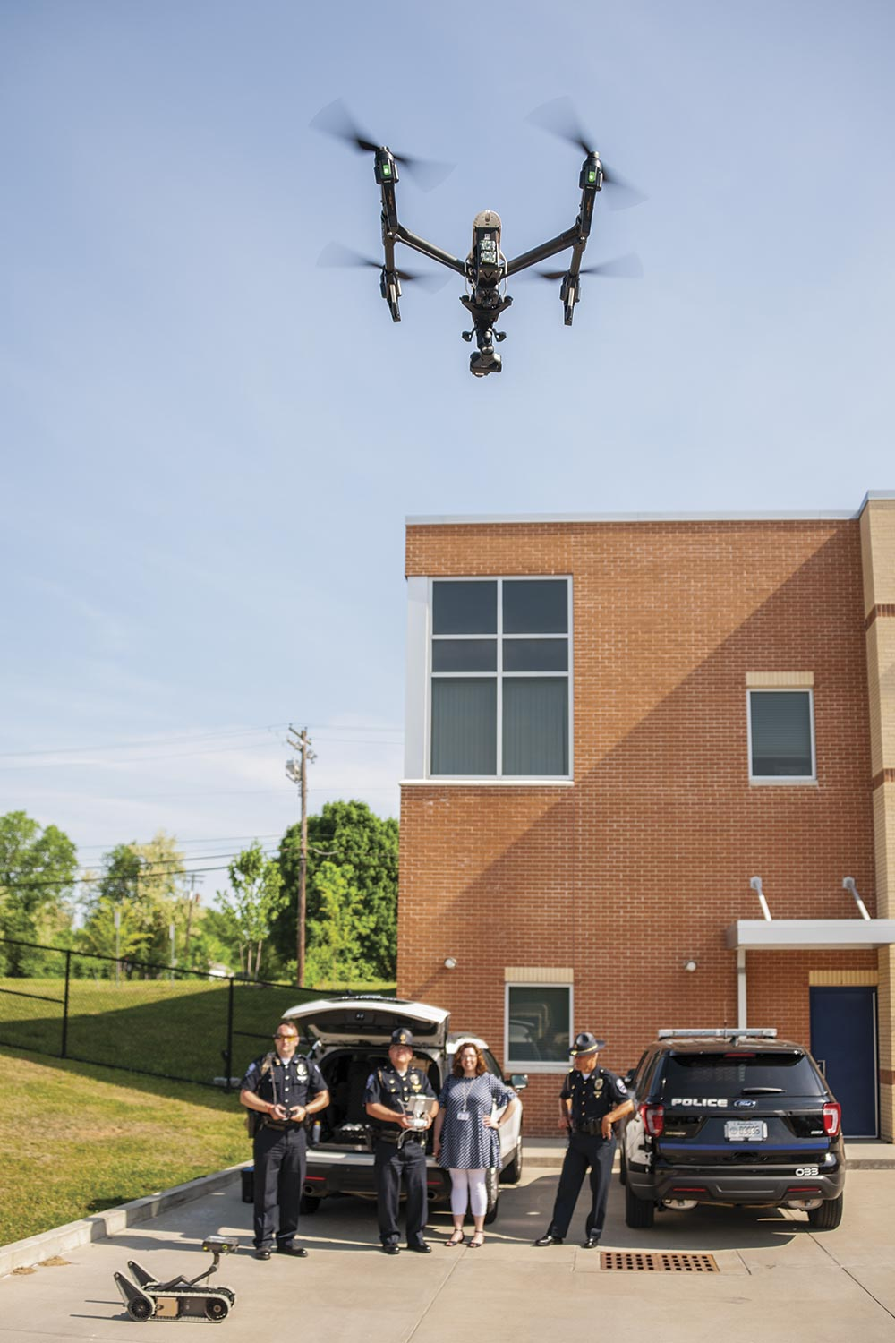 Georgetown Police Department purchased a drone in 2017. Officers trained and assigned to the department's aviation unit have used the equipment in law enforcement operations as well as for community relations events. (Photo by Jim Robertson)
