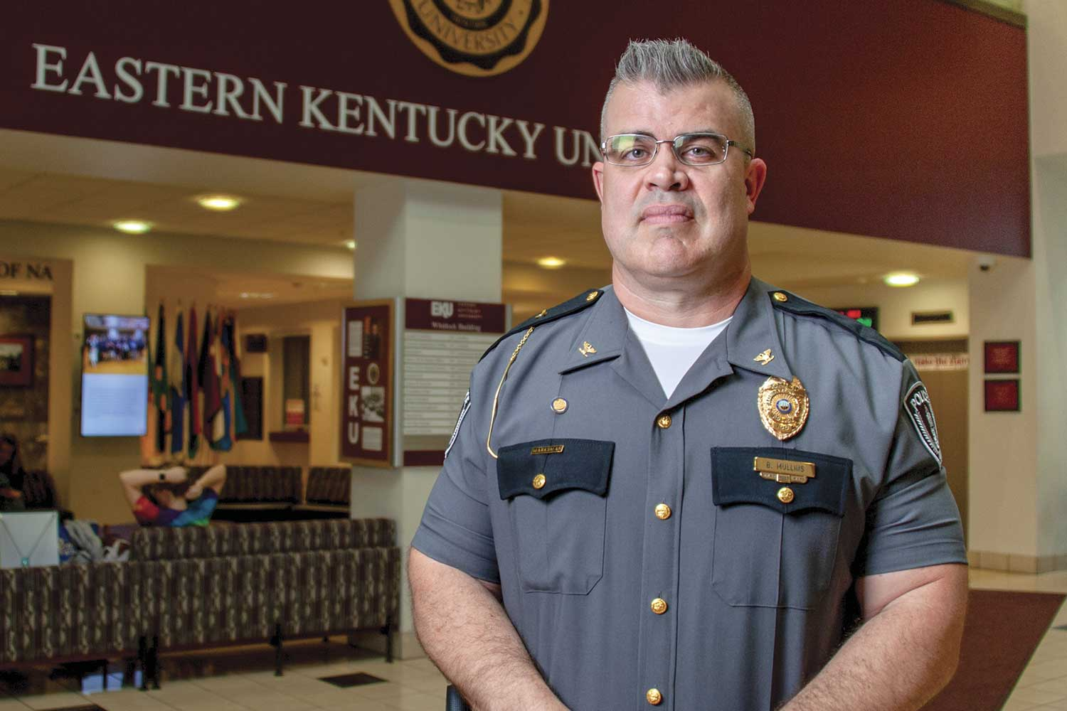 Eastern Kentucky University Police Chief Brian Mullins said being chief of a university police department is a blessing. (Photo by Jim Robertson)