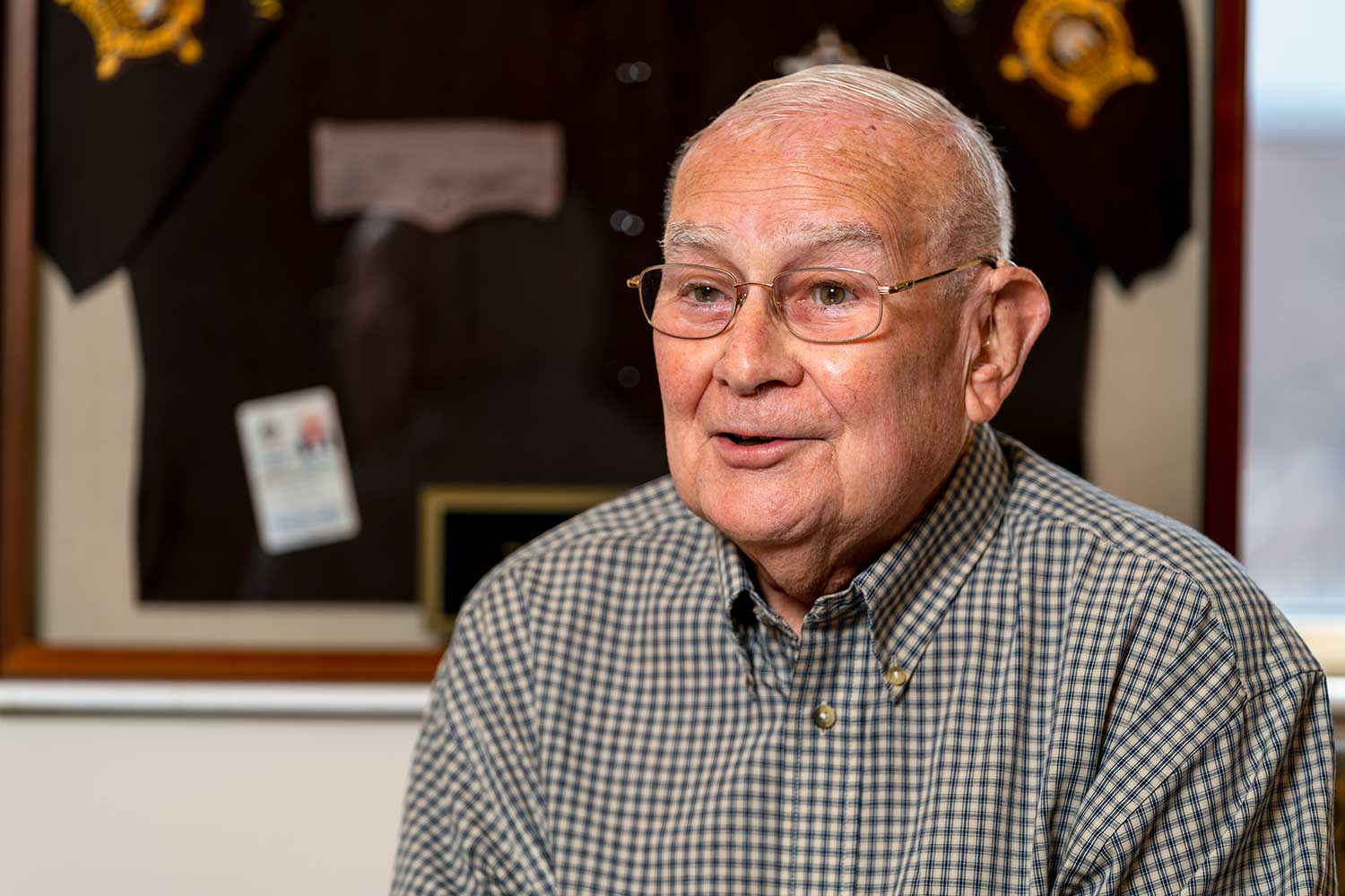 John Sayers began his law enforcement career in 1957. He retired on June 30, 2019.(Photo by Jim Robertson)