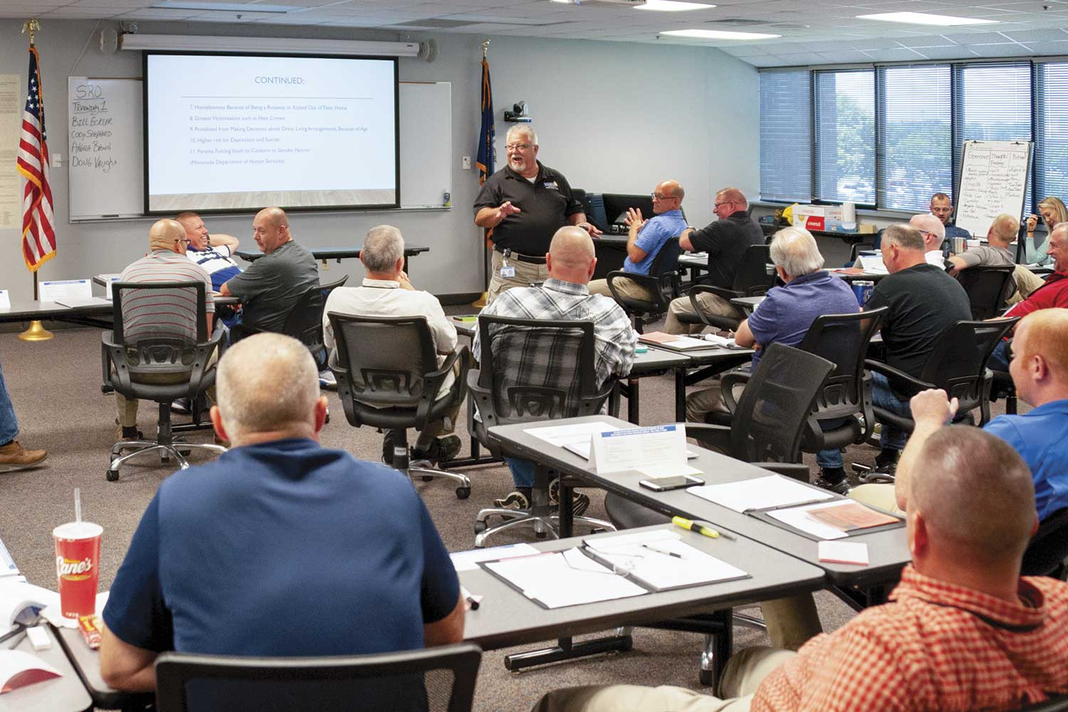 The first SRO Level I class completed training in June. There are three levels to SRO training, which are spread out over a three-year period. Once an SRO completes all three levels, they will have received 120 hours of training specific to SRO duties. (Photo by Jim Robertson)