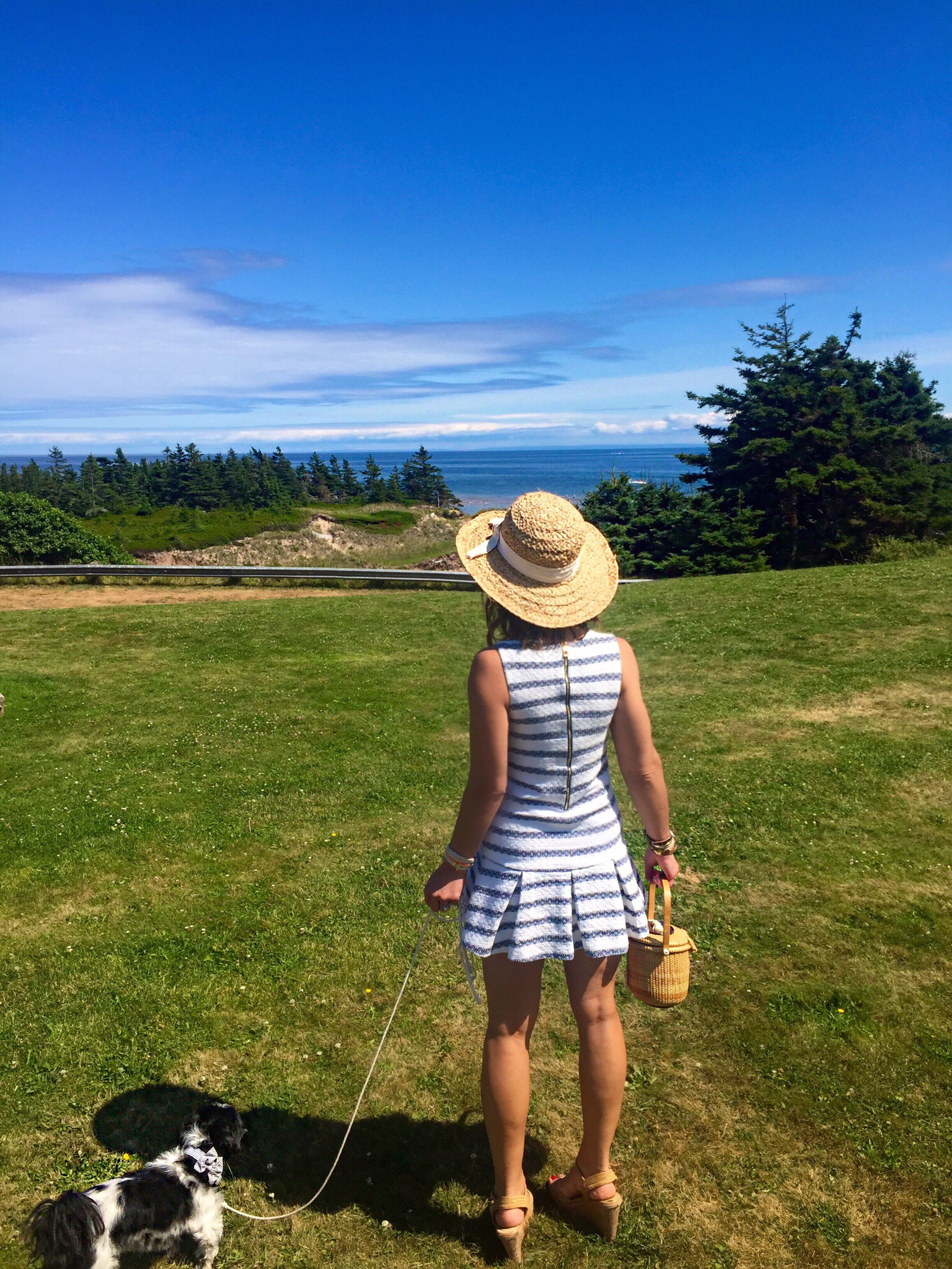 Overlooking Basin Head Beach in Souris, Prince Edward Island
