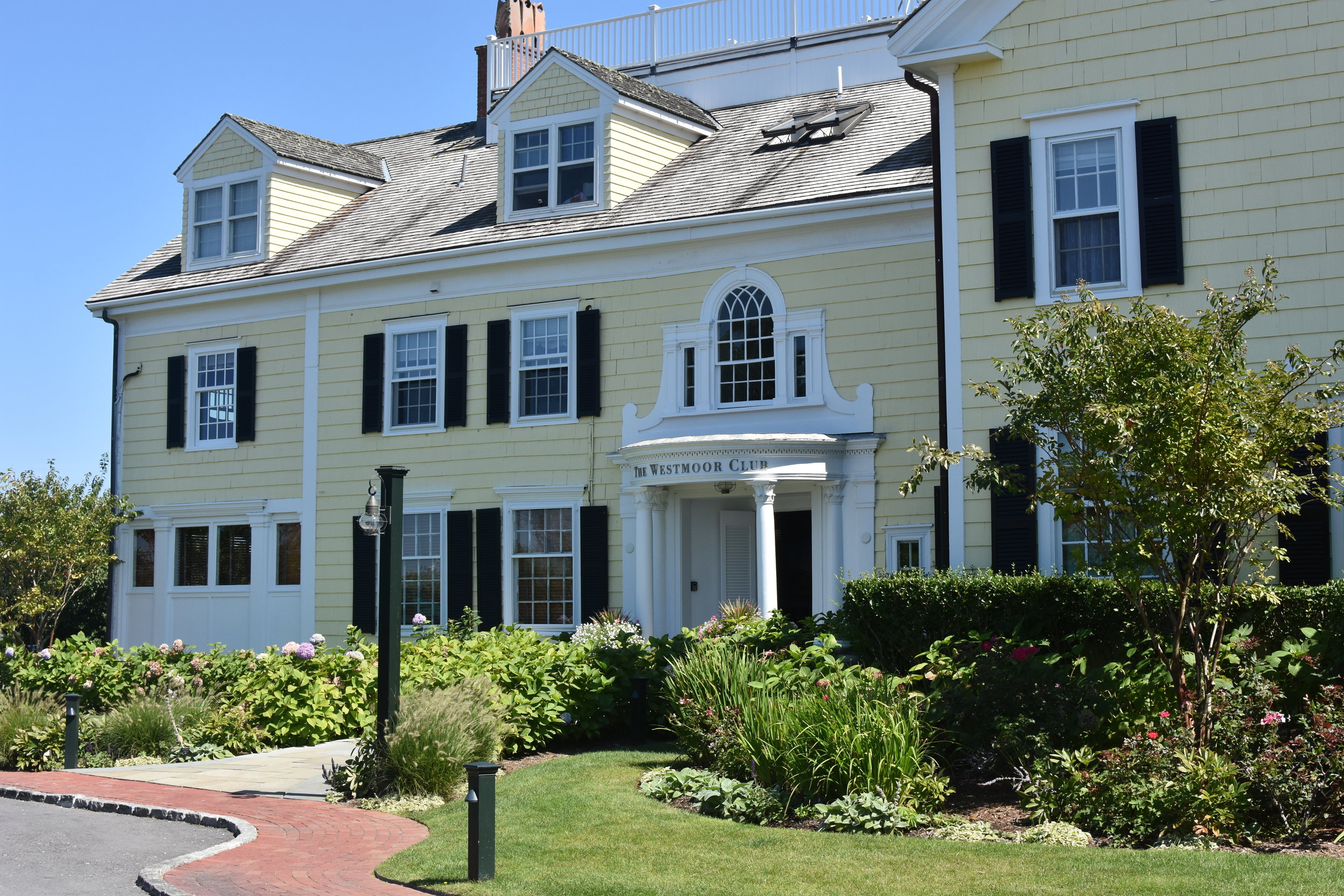 A 1917 summer home built for Alice Vanderbilt now serves as the clubhouse and guest quarters of Nantucket's  Westmoor Club .