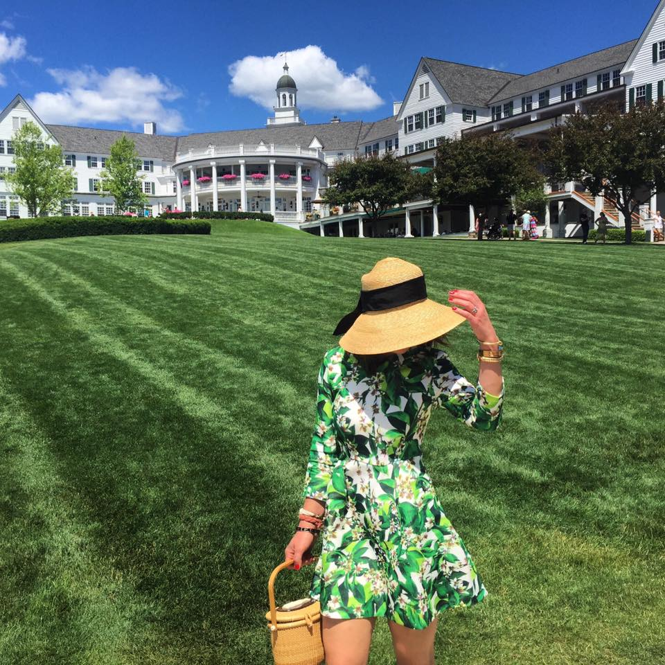 My favorite  Tuckernuck  dress was made for strolling the lush grounds of the Sagamore Hotel.