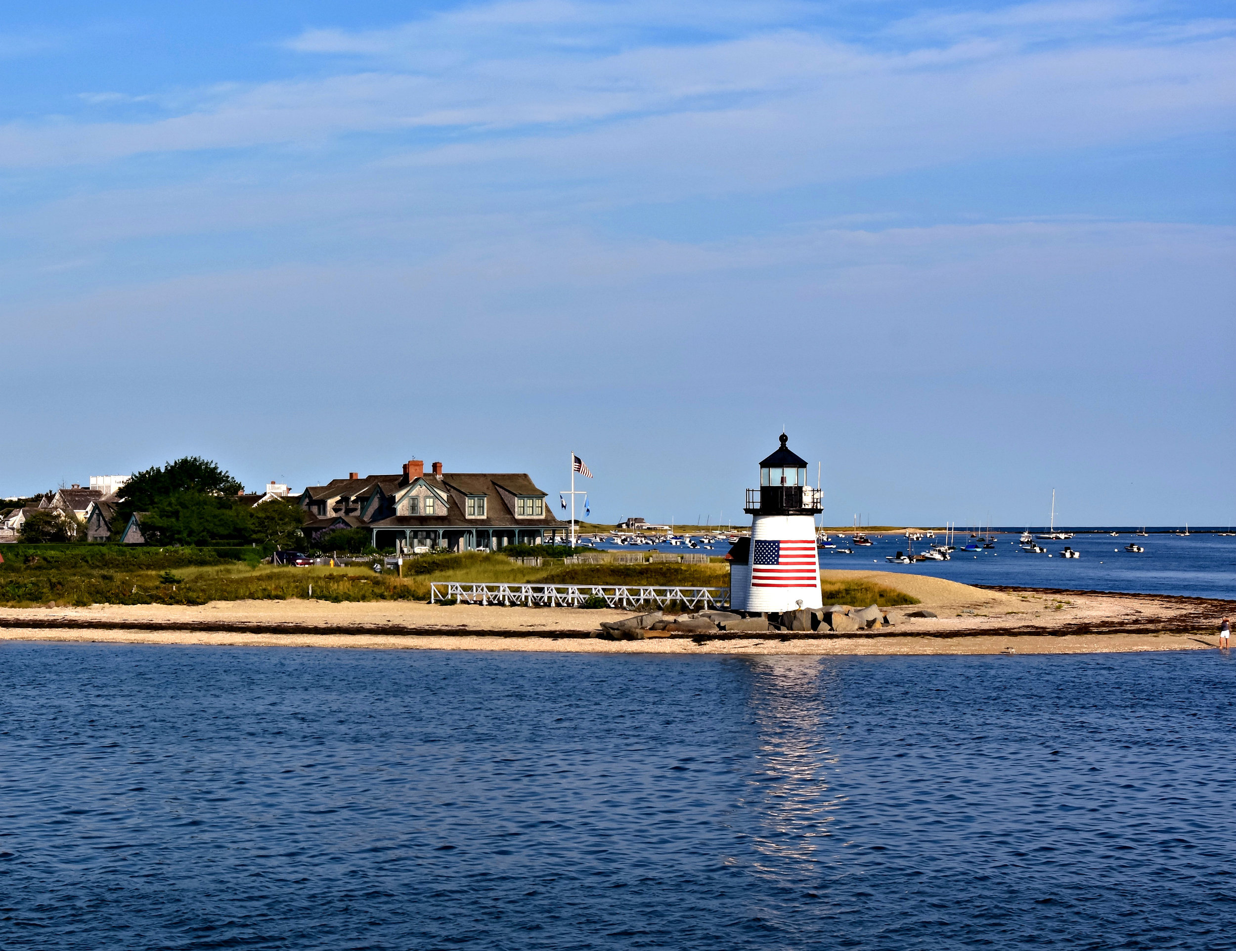 America's second-oldest light station,  Brant Point Light  has been guiding ships into safe harbor since 1746.