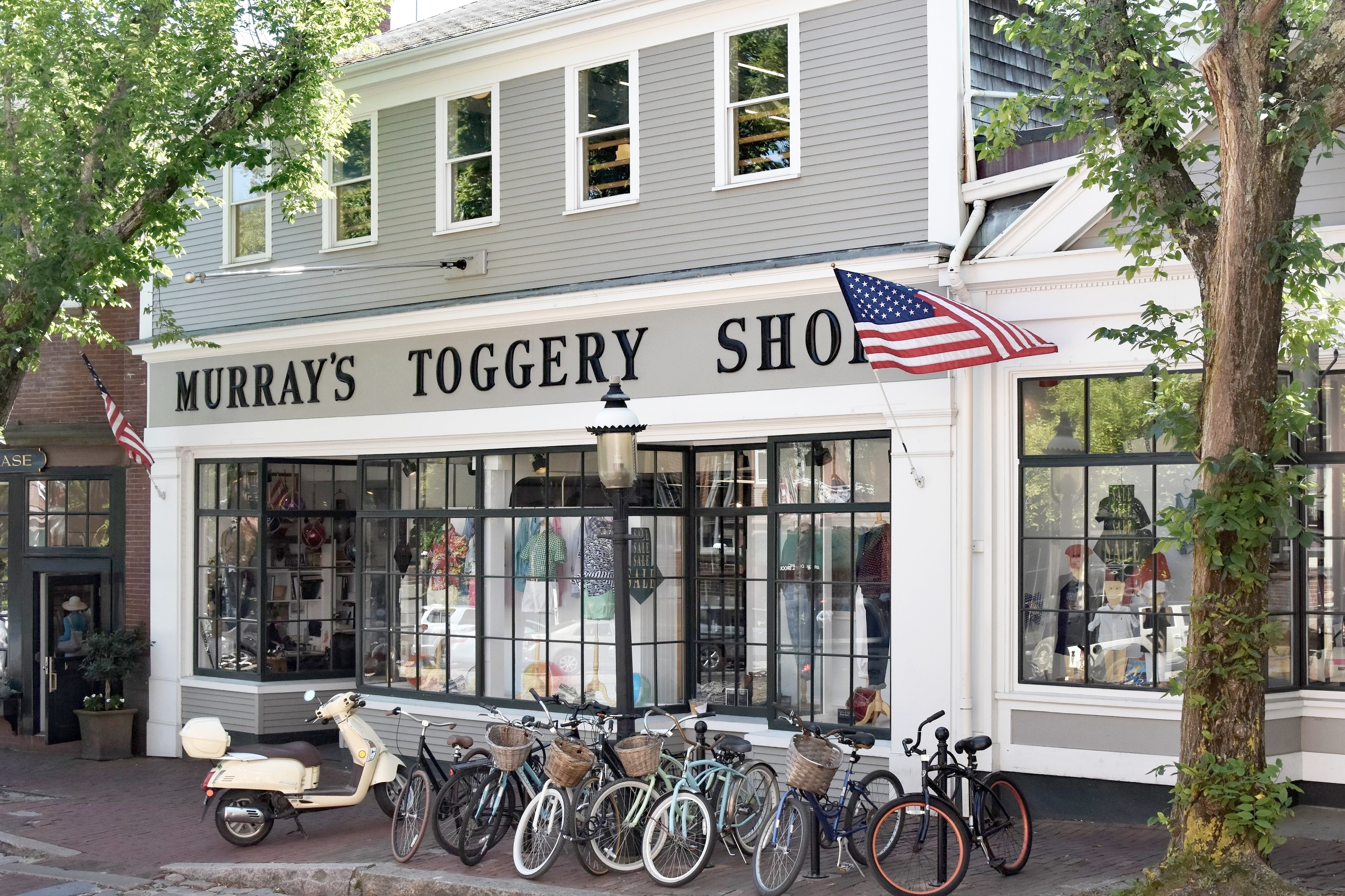 Murray's Toggery Shop , a veritable retail legend, was established in 1945 at the top of Main Street.