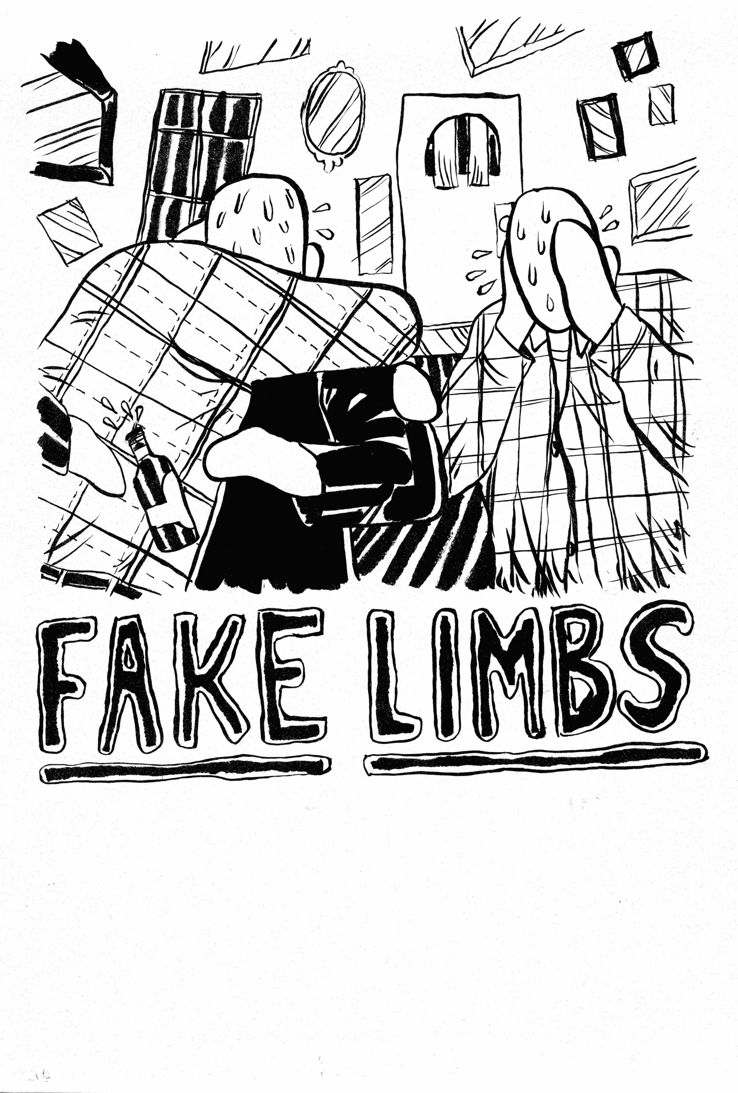 Fake Limbs Tour Poster - Ink on Paper 9x12