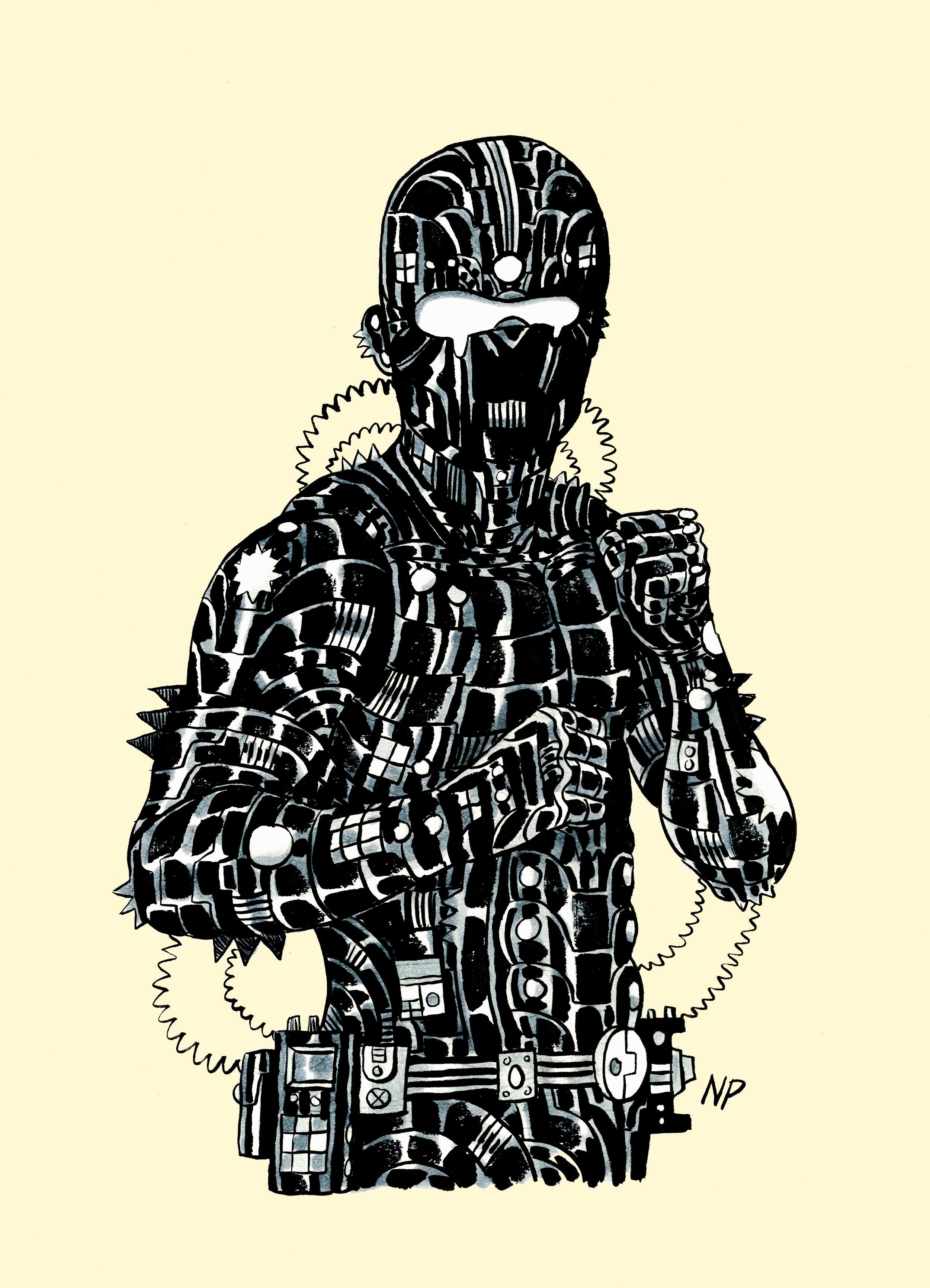 Exacto II / 9x12 / Ink, Marker, Digital