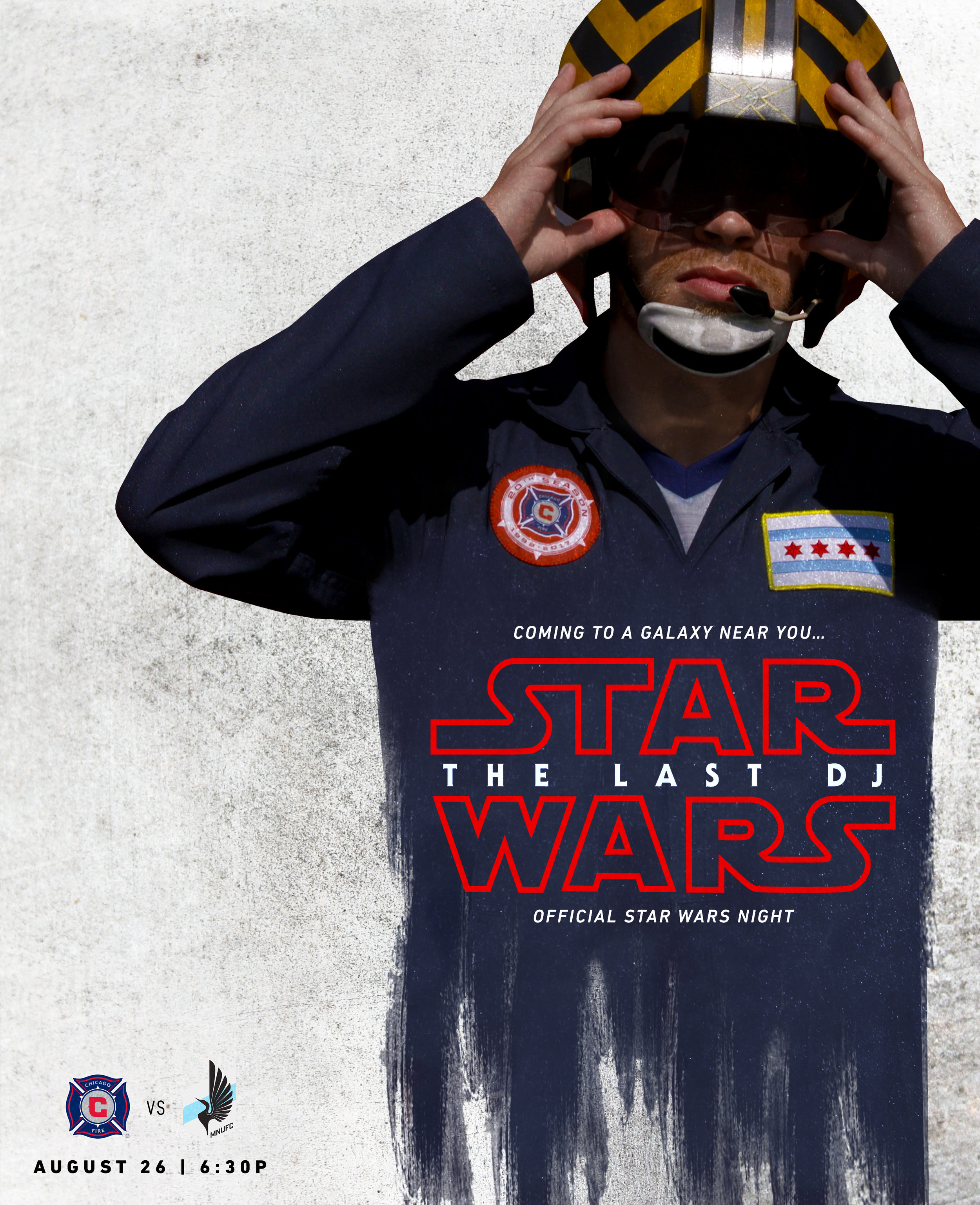 """The Last DJ"" Original Guerilla Flyer Design for Star Wars Night by Victor Birriel"