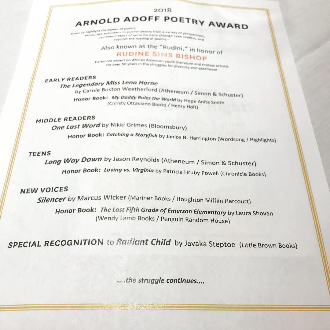 The Arnold Adoff Poetry Award -
