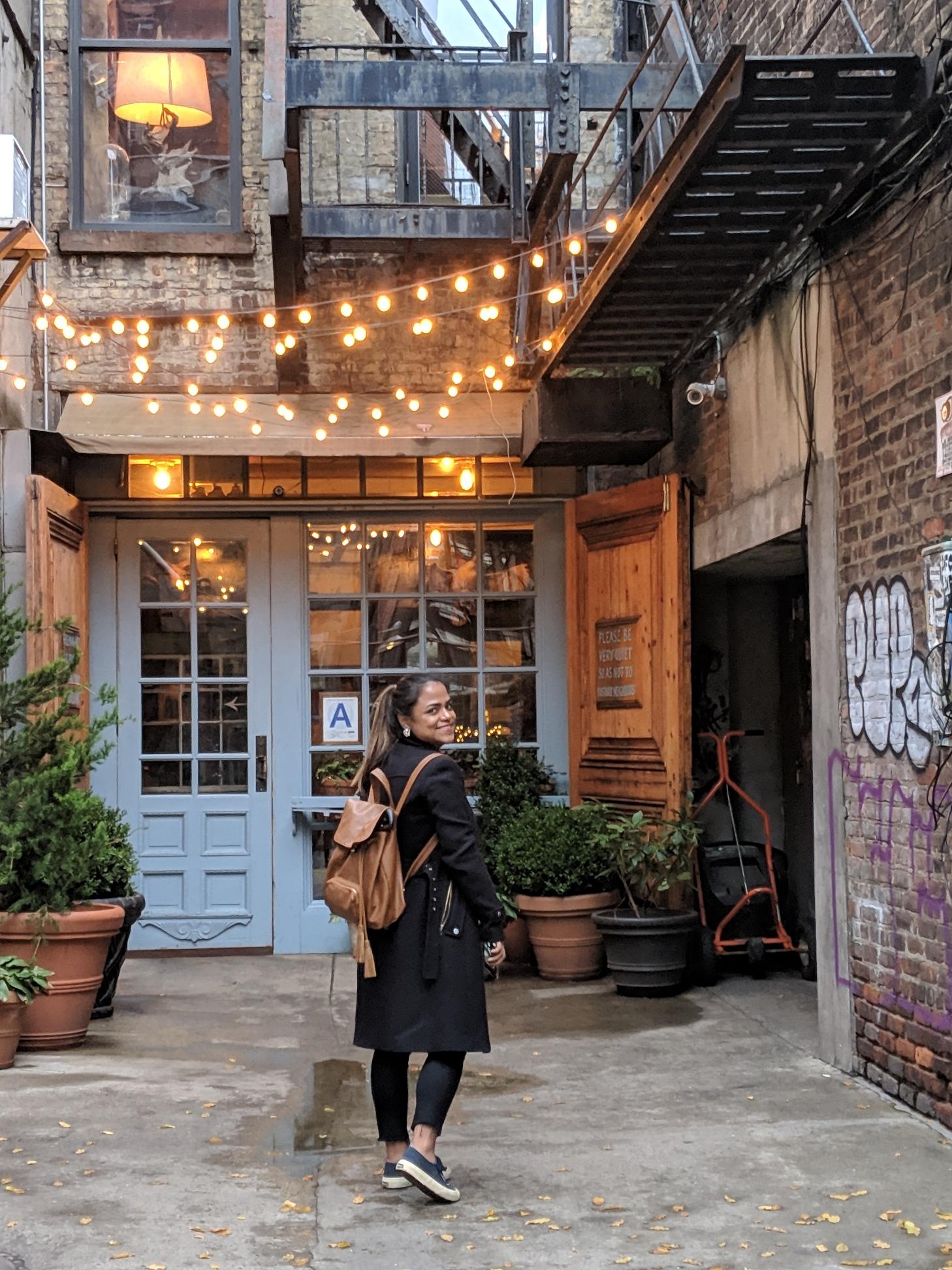 Sigrid exploring NYC for design inspiration