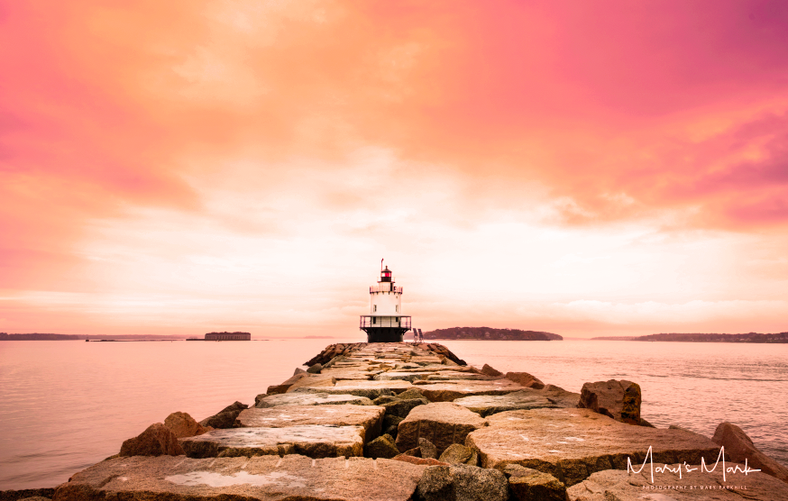Red Sky Morning Lighthouse Maine by Mary Parkhill.png