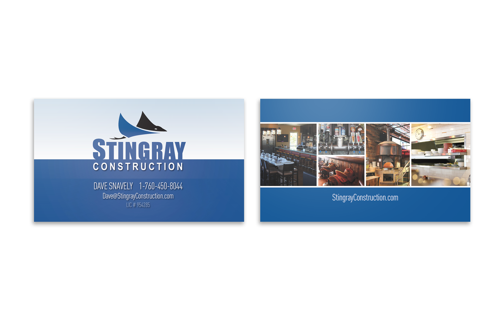 Stingray Business cards