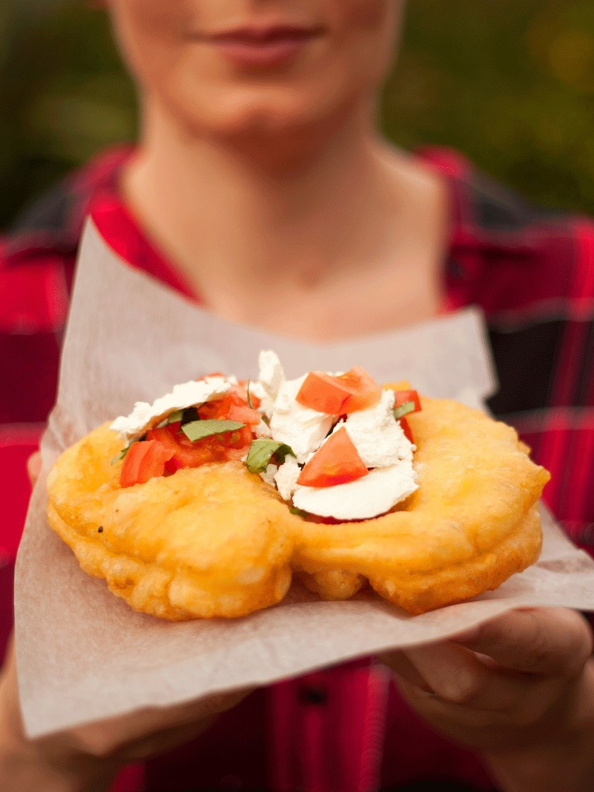 LANGOS - Fried Bread Puffs traditional to Hungary