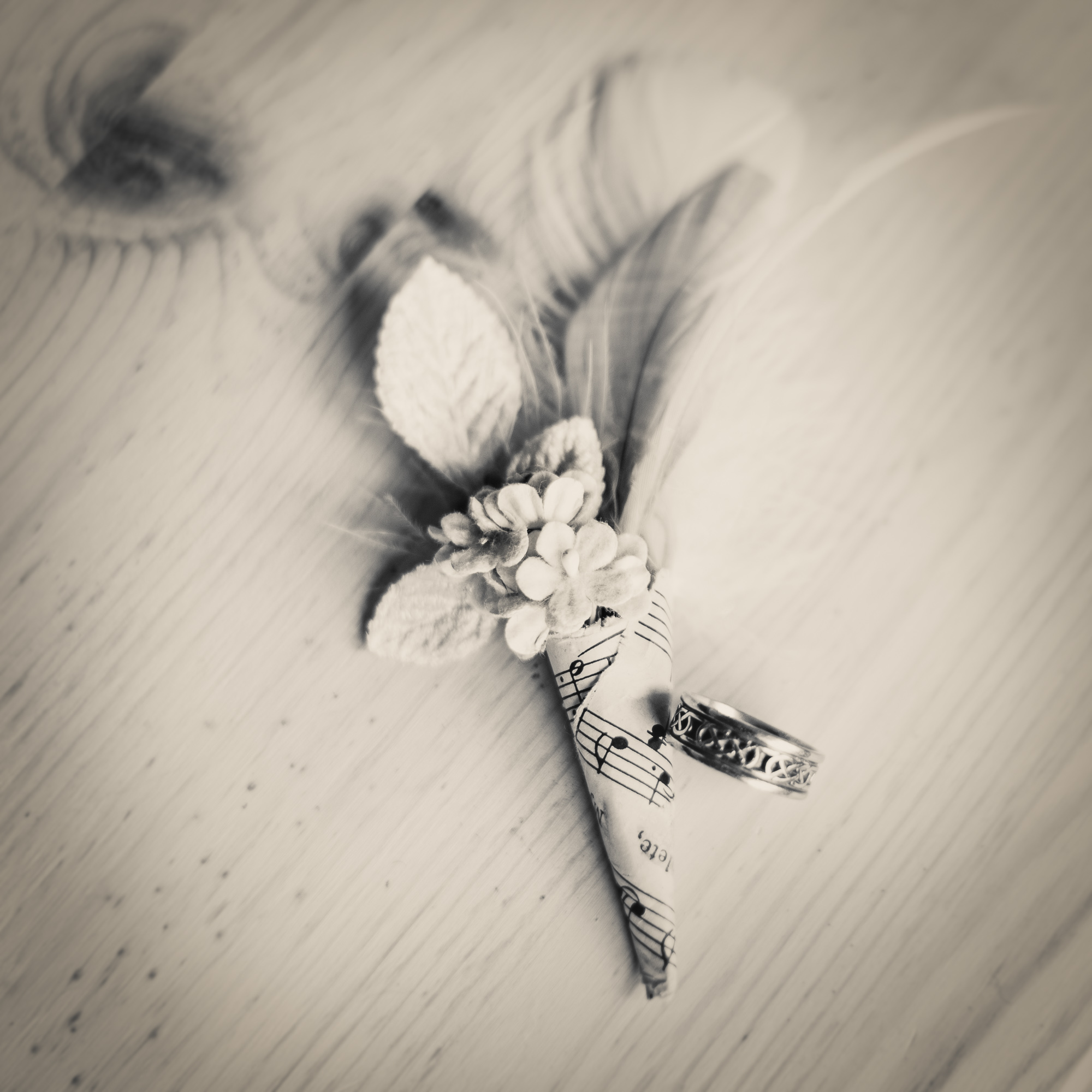 Copy of Groom's ring and vintage style boutonniere