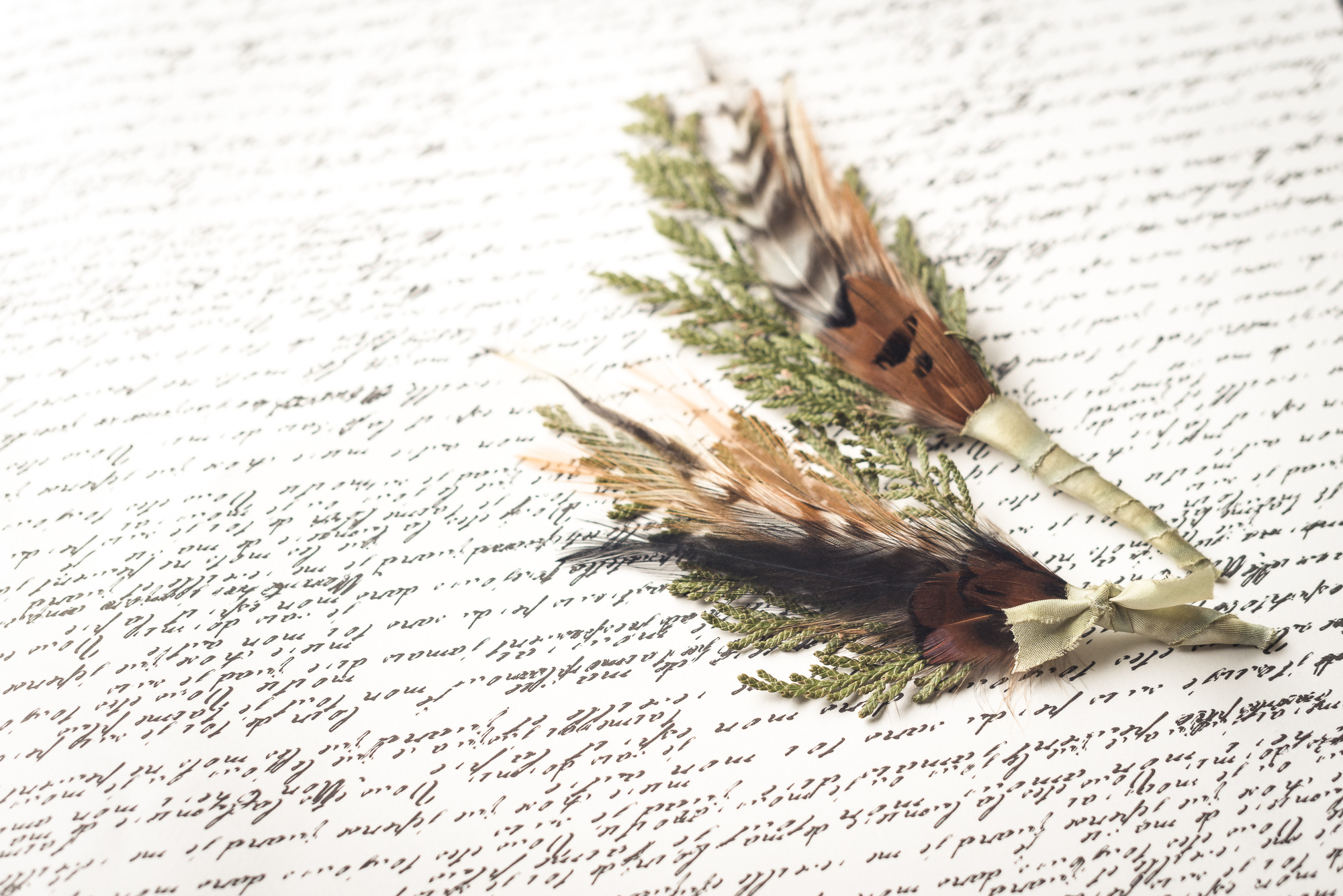2 Cedars Photography - Seattle/Tacoma Photographers  Make your own handmade cedar and feather boutonnieres