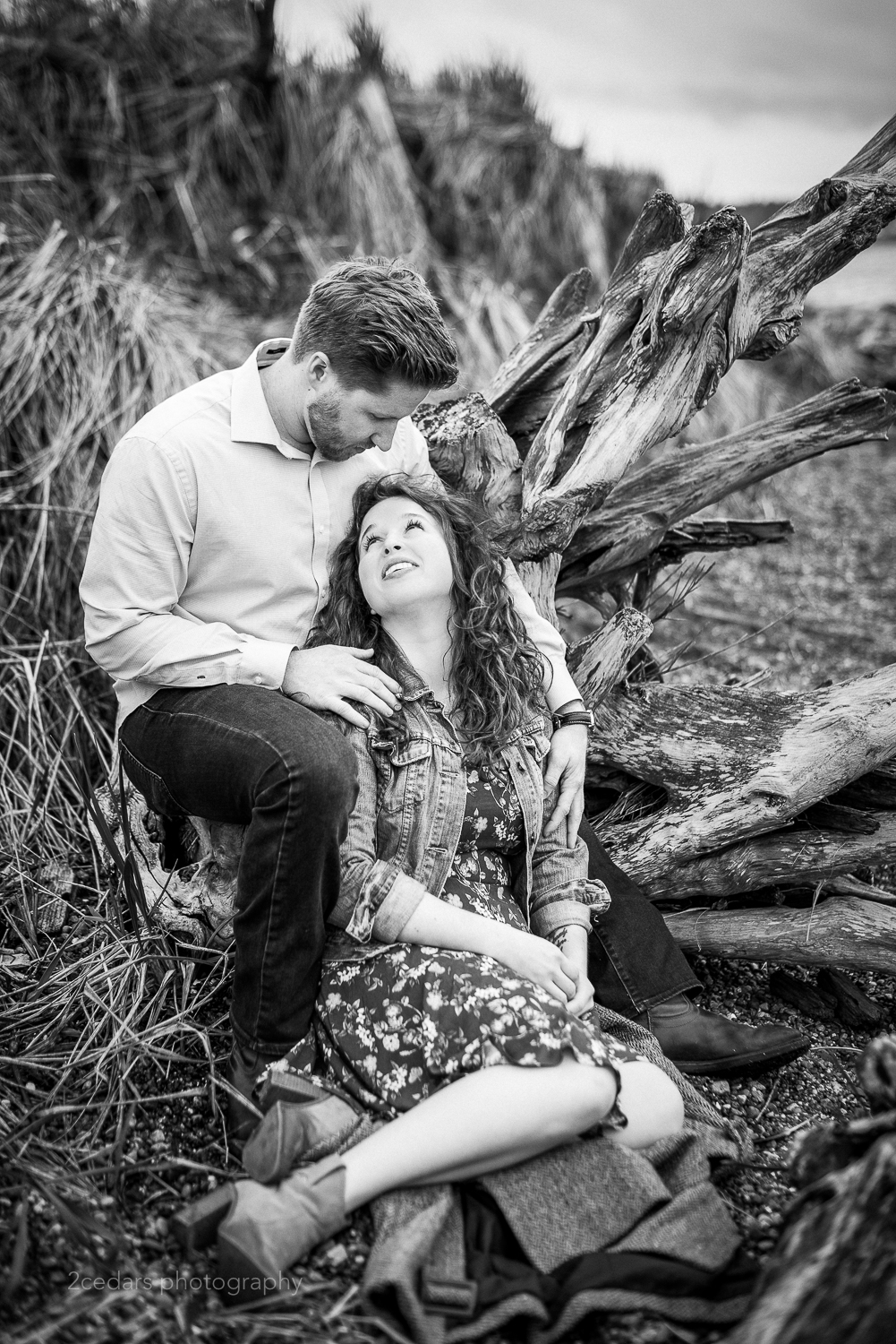 Puget Sound Beach Engagement Photography