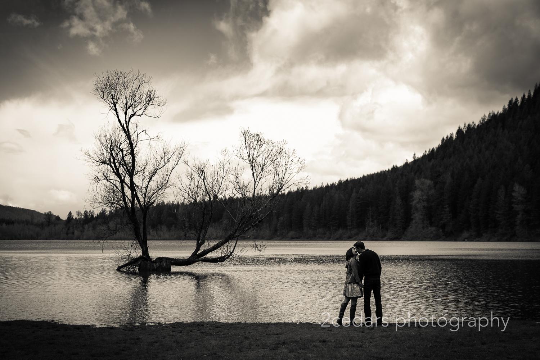 Rattlesnake Lake Couple Silhouette
