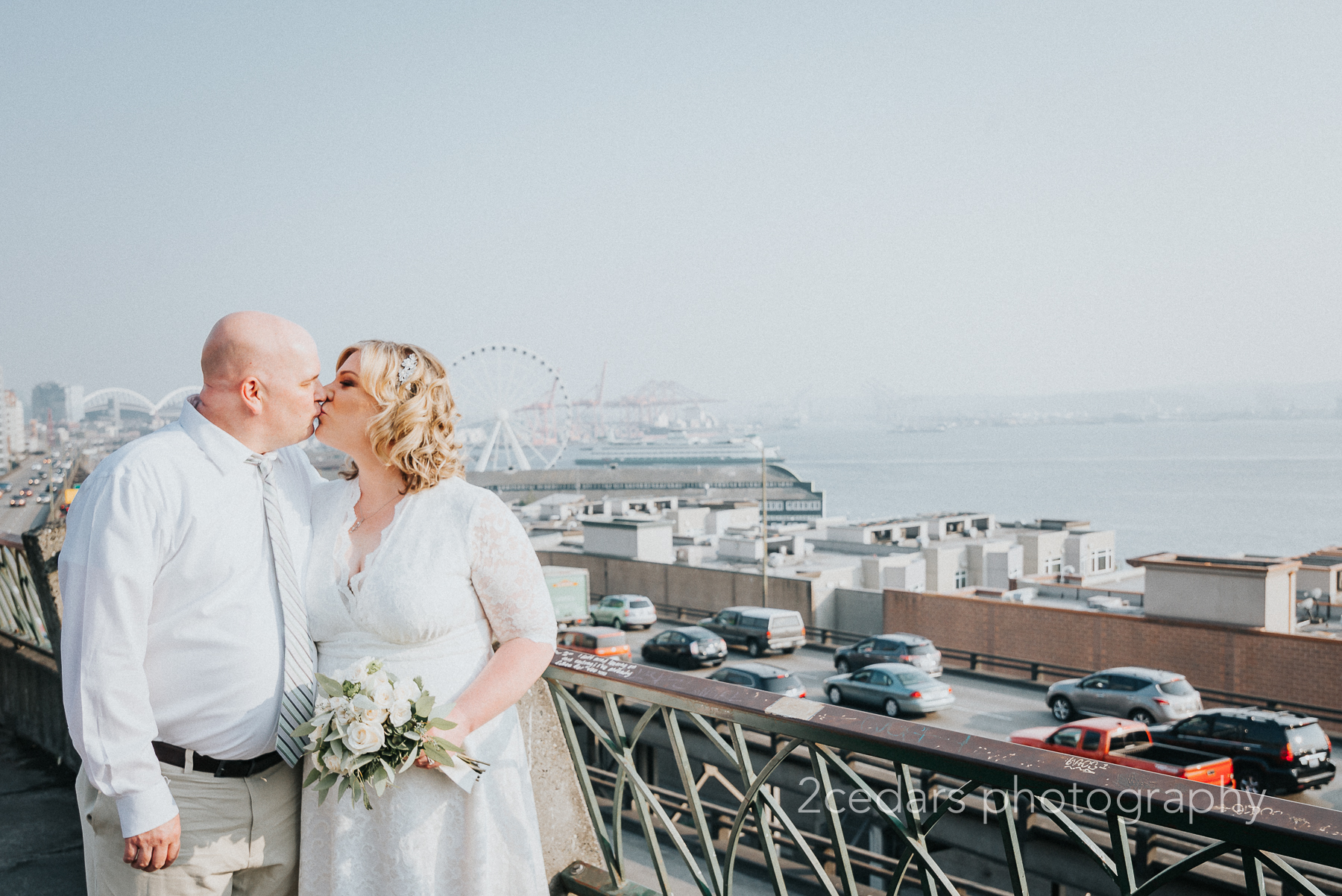Downtown Seattle Courthouse Elopement - 2 Cedars Photography Weddings