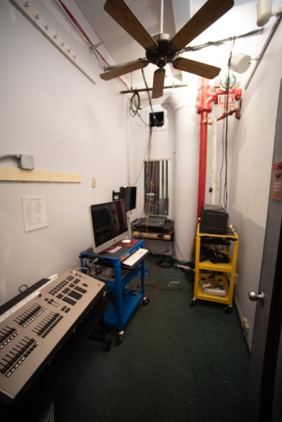 Light Booth and Control Room to the Stonestreet Theater (Studio 8-A).
