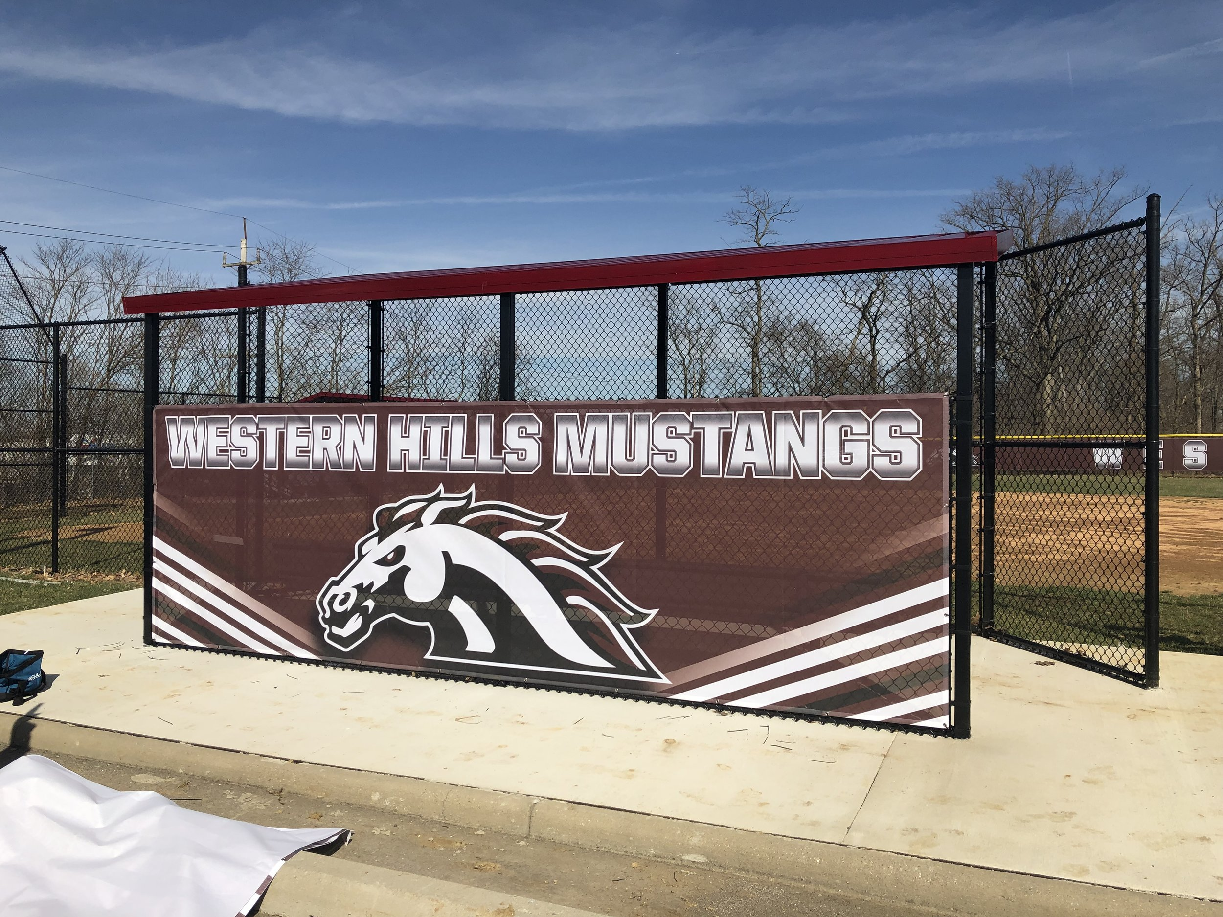 SOFTBALL FIELD WINDSCREEN