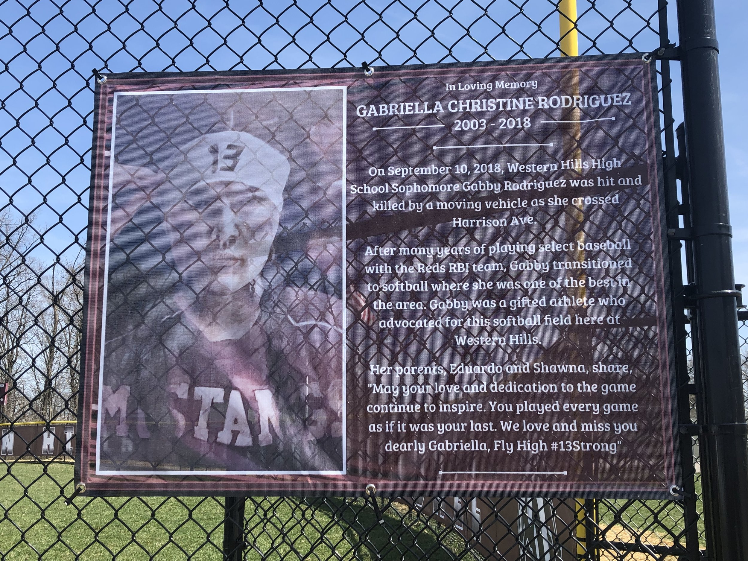 SOFTBALL FIELD WINDSCREEN - MEMORIAL
