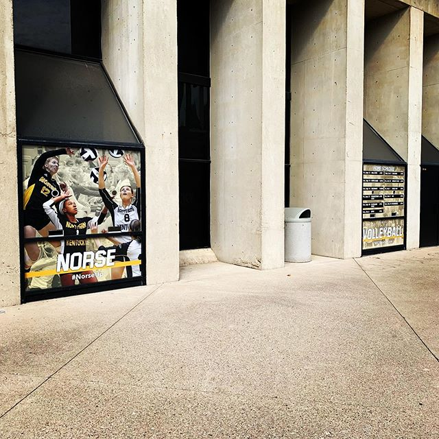 Get out and catch some @nkunorsevball this season! #perforatedvinyl #norseup #corbittgraphics