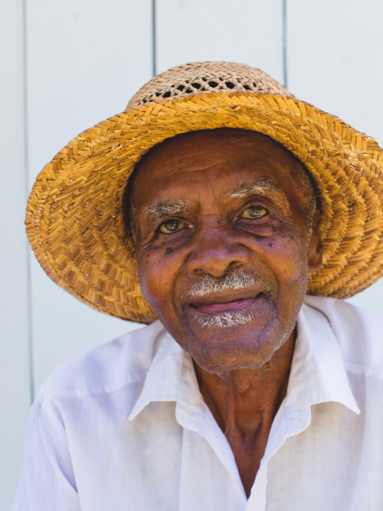 ABOVE: Ned Tyus, 90, has been with Elm Street Gardens since the beginning.