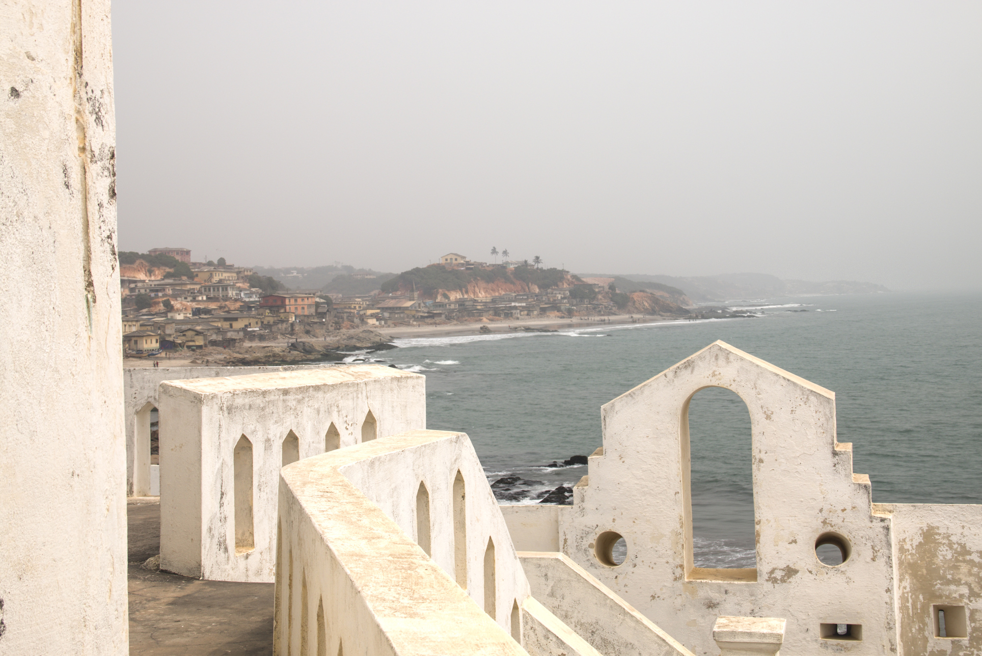 Slaves were held in dungeons within Cape Coast Castle before being forced to walk a plank onto ships that would take them to the Americas. It is one of more than 50 such castles that were once on the West African Coast.