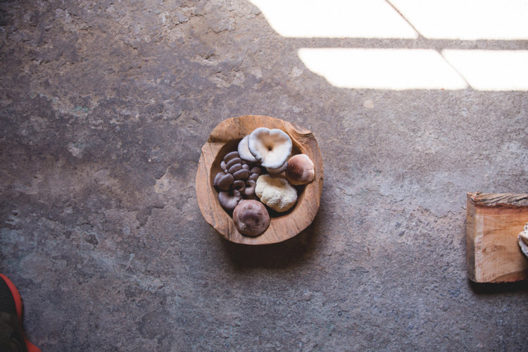 ABOVE: A wooden bowl features Sparta Imperial's bounty