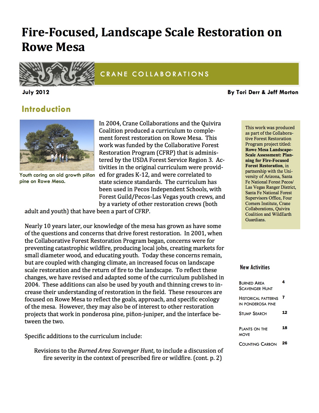 Fire-Focused, Landscape Scale Restoration on Rowe Mesa -