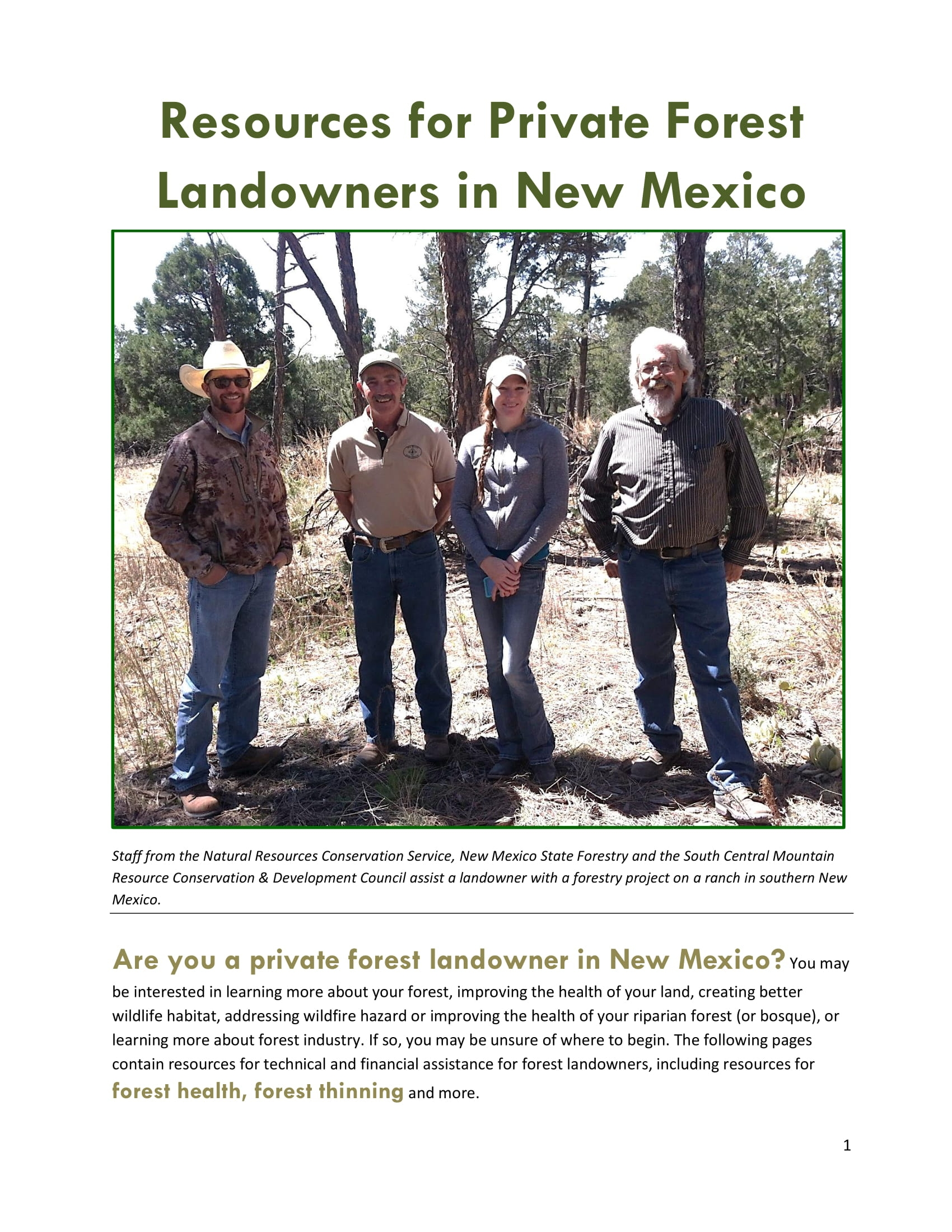 Resources for Private Forest Landowners