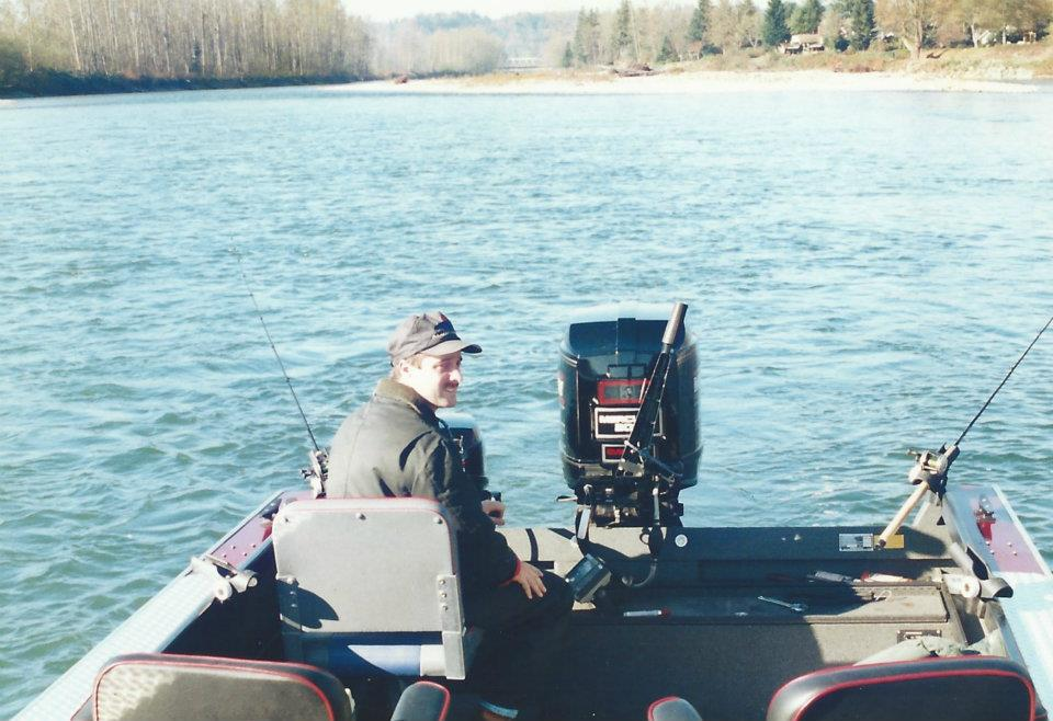Thats me pulling plugs for steelhead in a tail out in the early 90's on the Skykomish River in Washington State.
