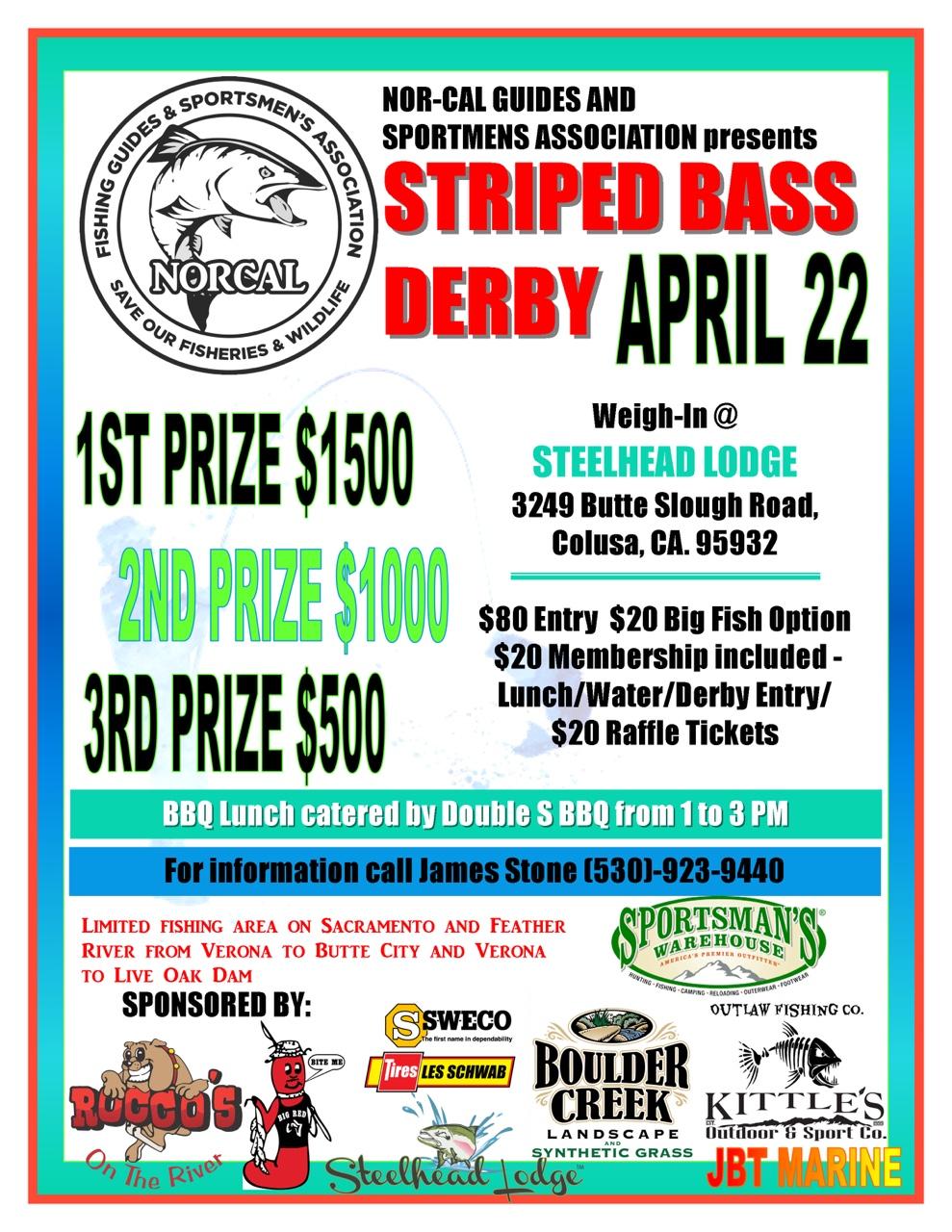 NCGASA Striper derby flyer!