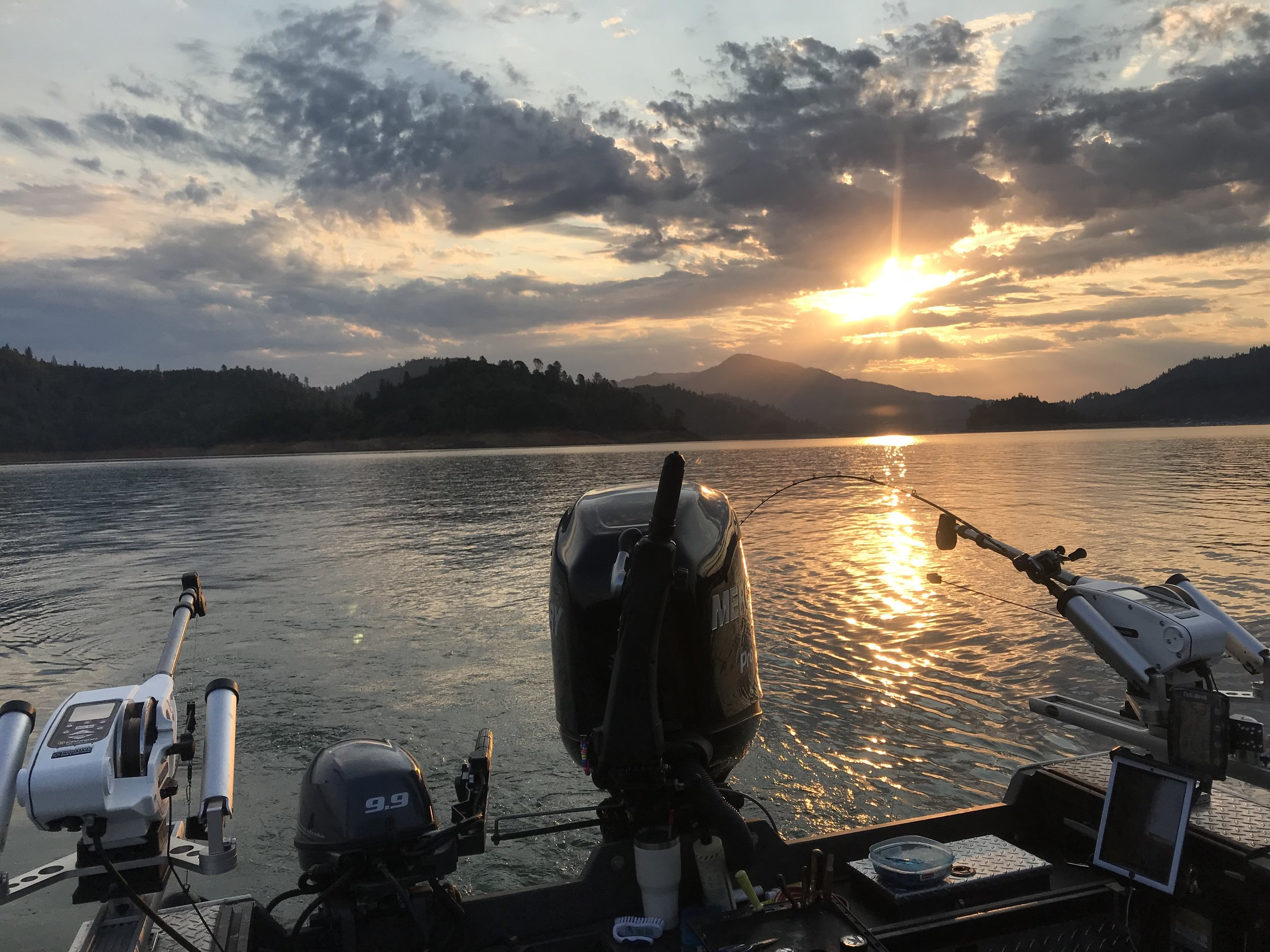 Sunrise on Shasta Lake is a magical time!