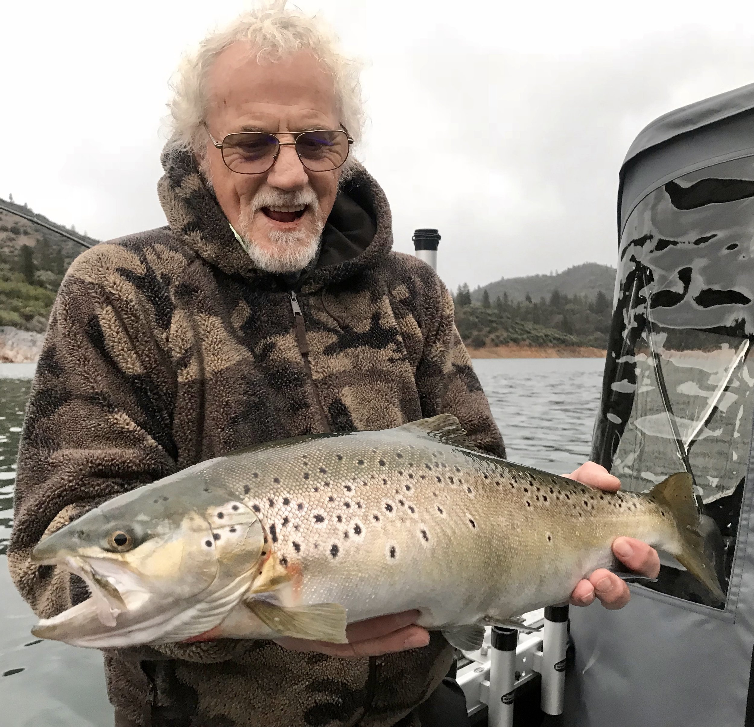 Shasta Lake has an abundance of quality browns in the 7-9 lb range like the one pictured.