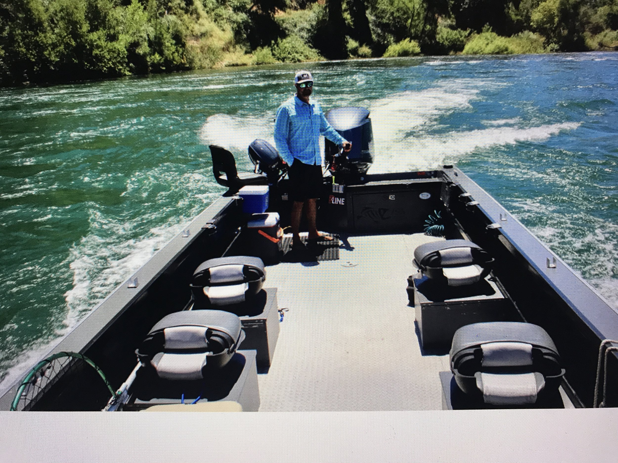 Lots of room for your group in Justin boat this year while fishing for Sacramento River King salmon