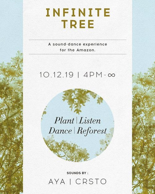 Join me in LA next wknd! Playing w @ayameditation & @crstomusic - will be epic experience and amazing people - all benefiting the Amazon ✨🌎✨ tickets and more info —-  infinitetree.org