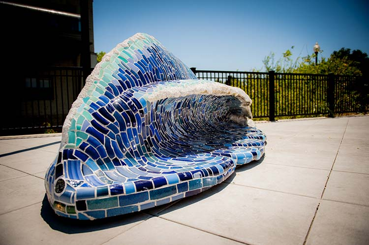 5. Wave Bench by Peter Hazel