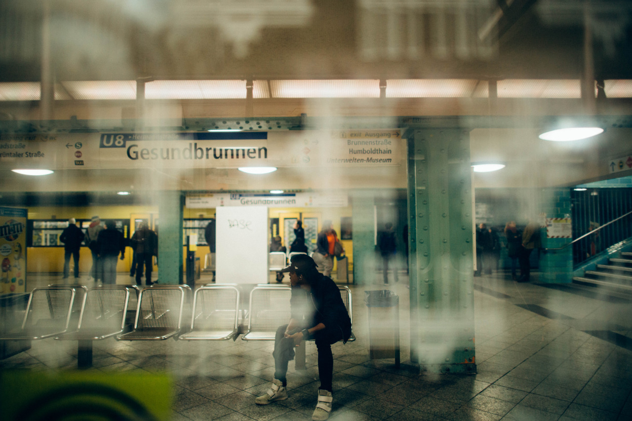 A German youth waits for the train at Gesundbrunnen station. Berlin, Germany.