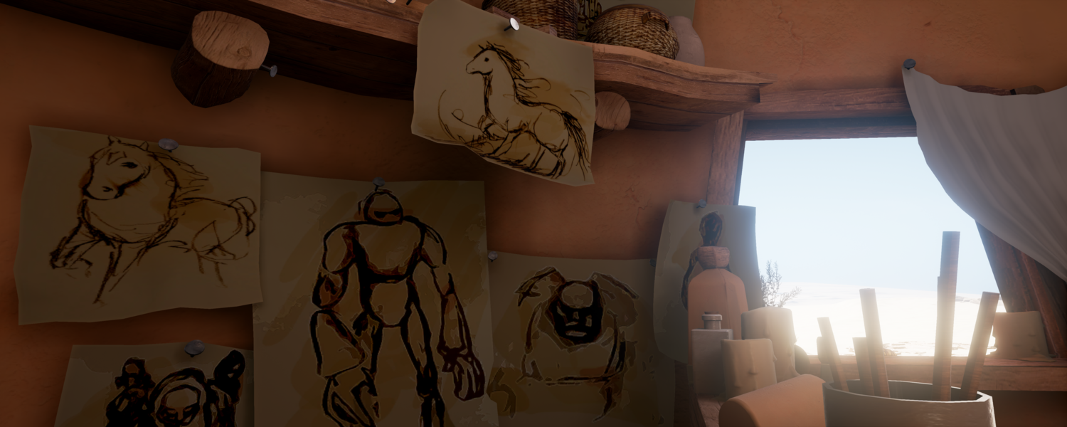 Sketches in-game
